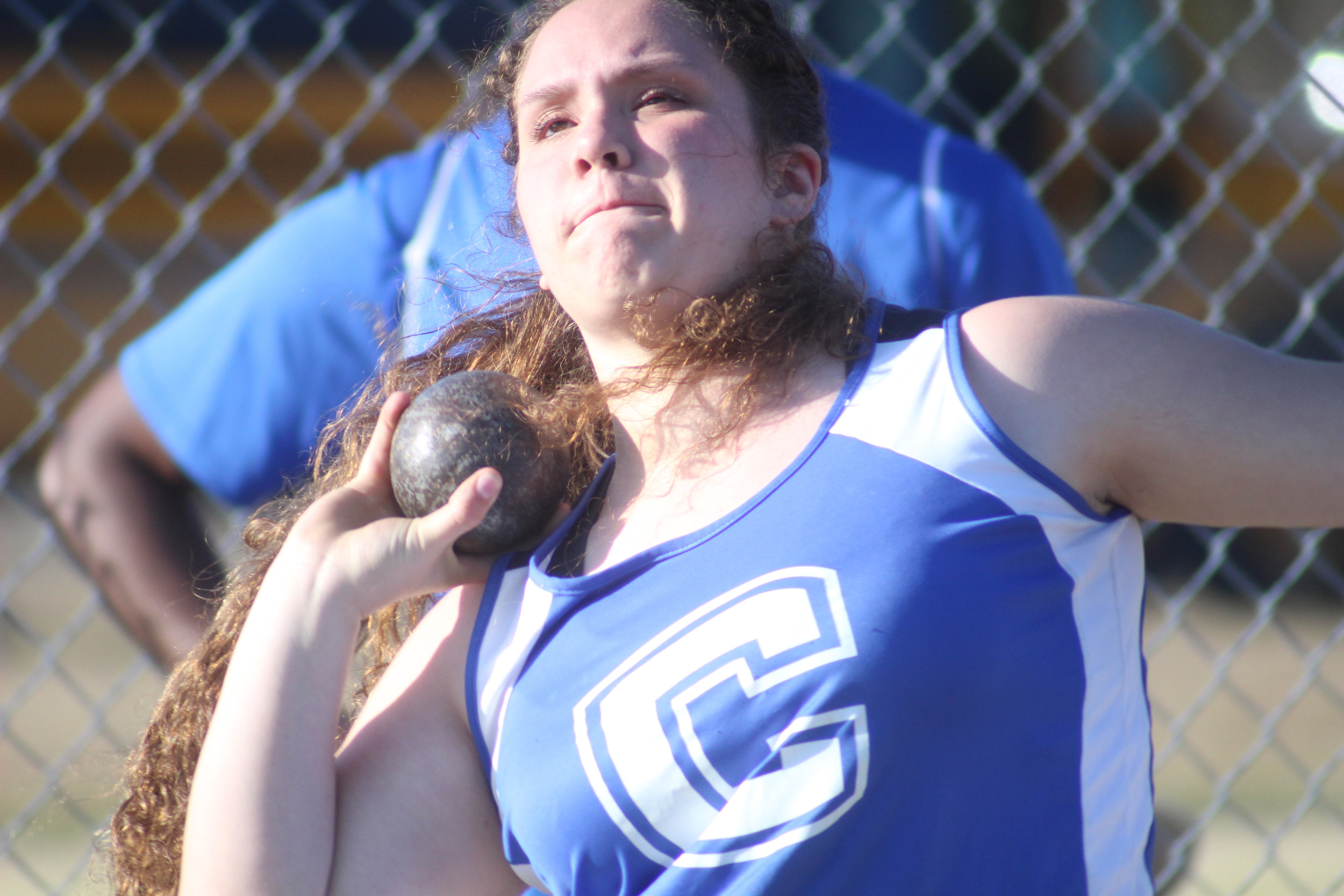 "Clay High's Autumn Null finished third in shot put with 30'-2"" put and also fifth in discus."