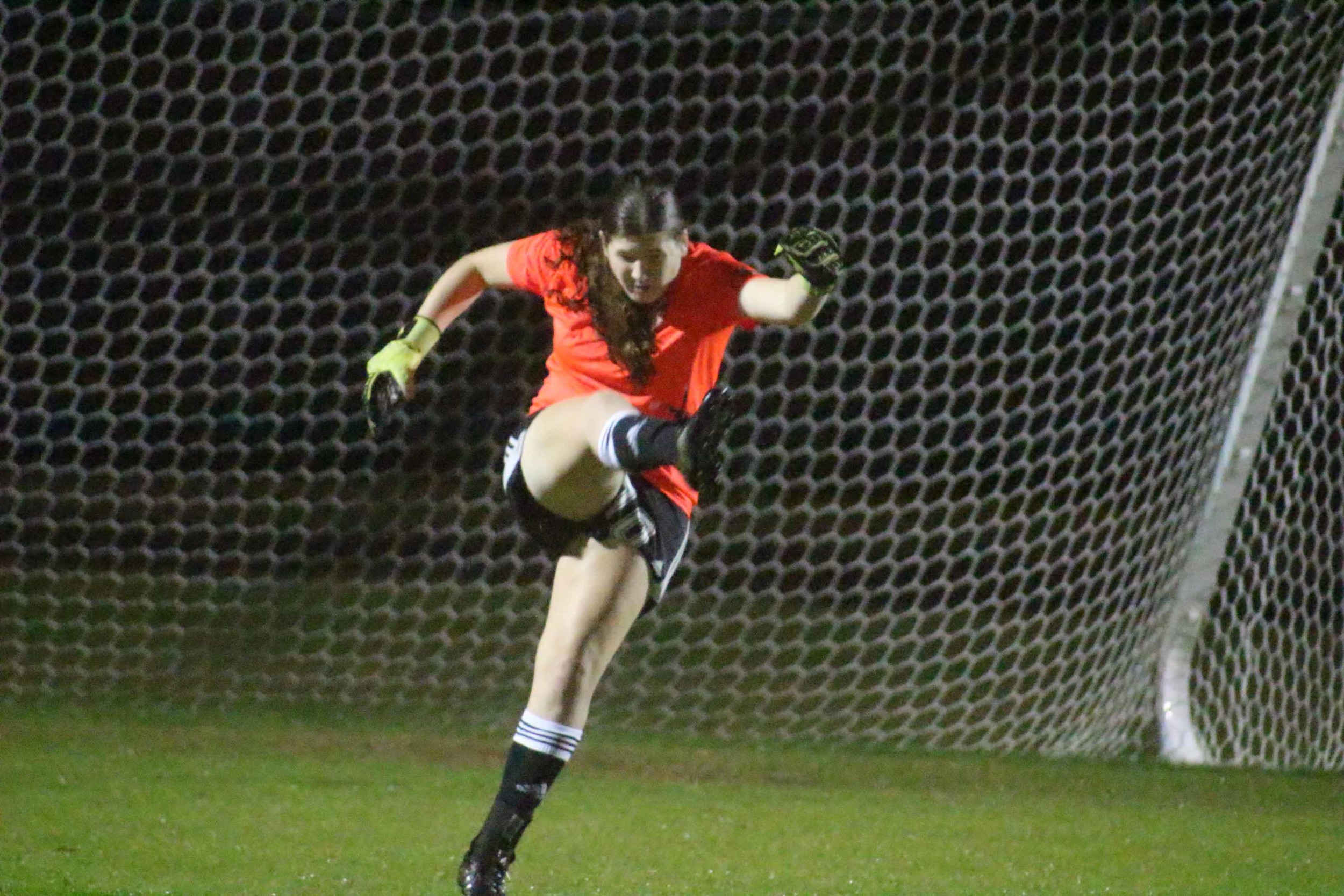 Oakleaf High junior Tabitha Weldon is a fearlessly goal wall for the Lady Knights.
