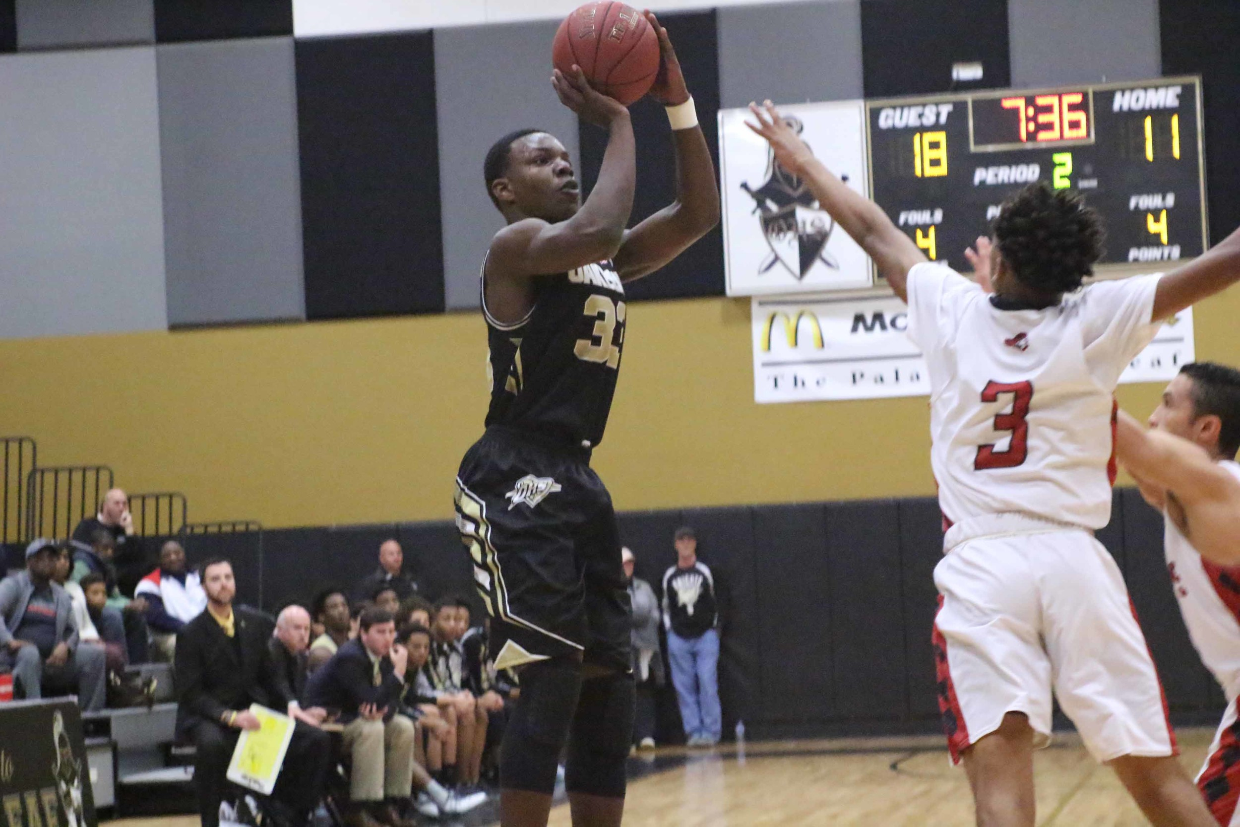 Oakleaf High junior Jonathan Bryant, above, was instrumental in putting the final touches on the Knights' district championship run with a week of high-scoring games.