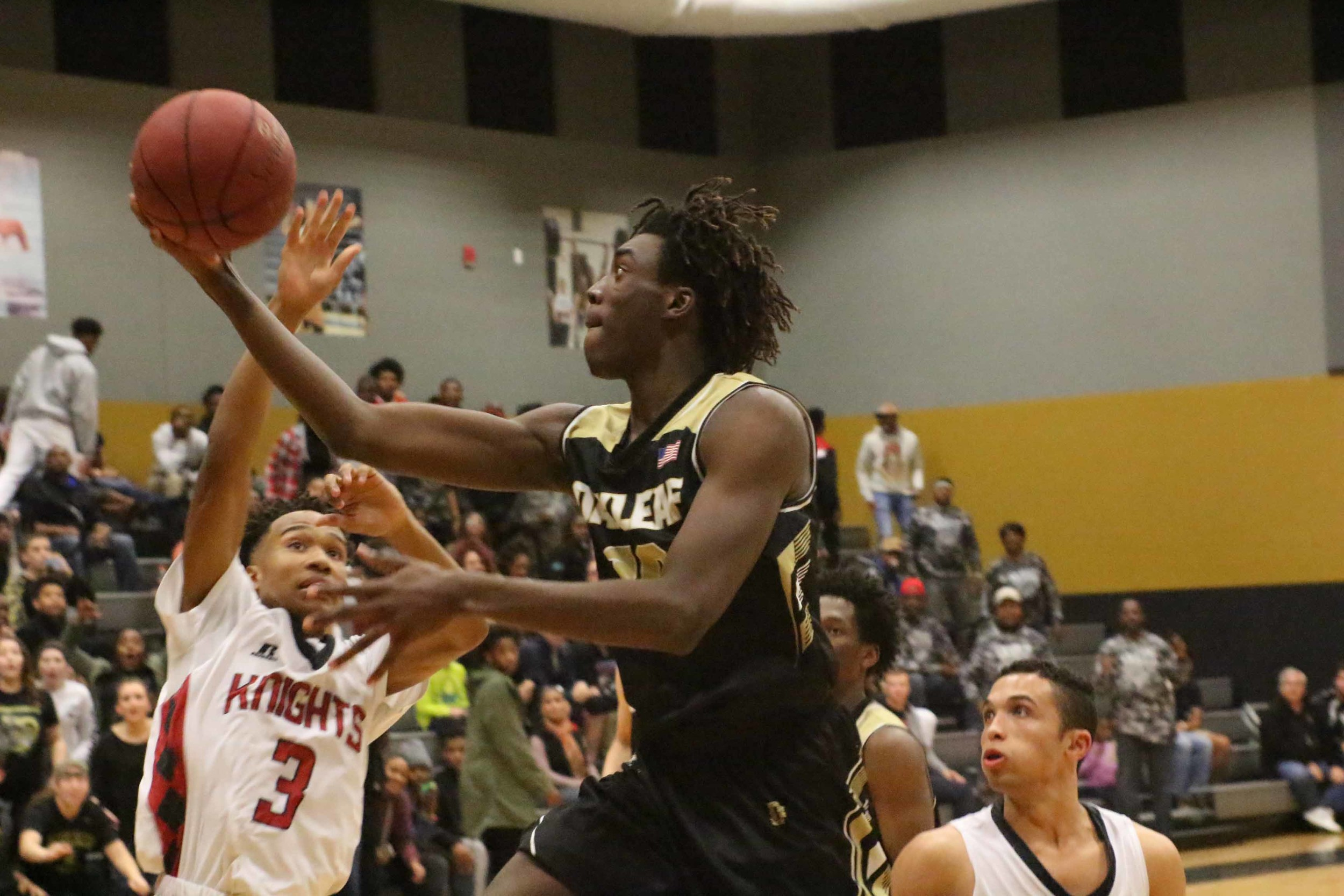 Oakleaf High sophomore Nassir Little made a big splash as a freshman then came on strong this year as a shot blocker and rebounder for the district champion Knights. Little has numerous college offers including the University of Florida.