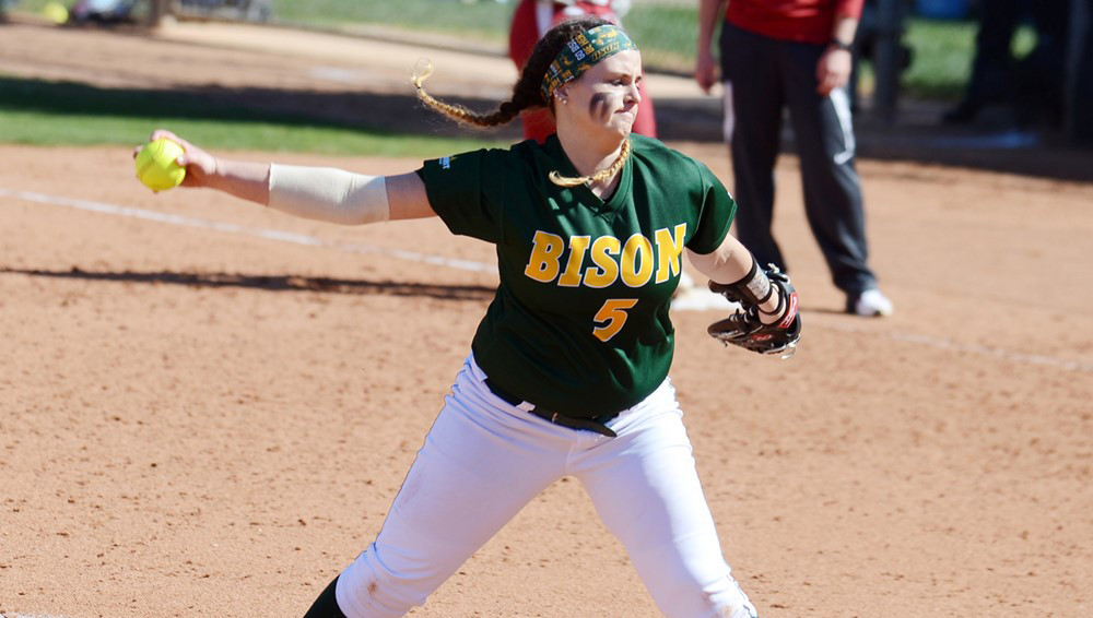 "Former Fleming Island High ace Kaitlyn ""KK"" Leddy has six wins at North Dakota State University, now 23-12 overall."