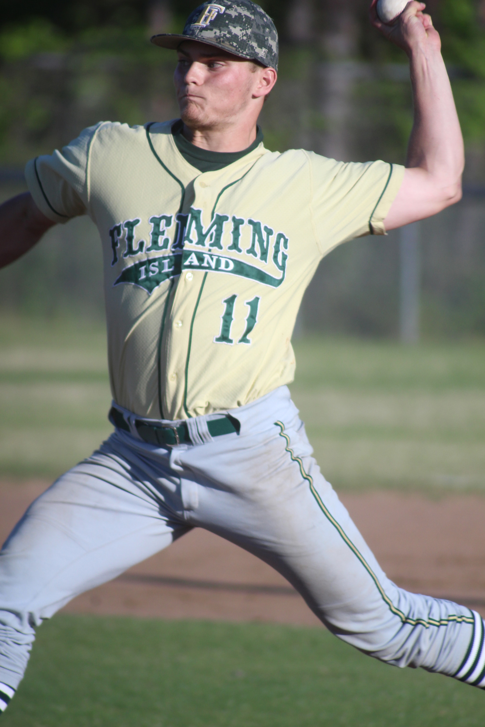 Fleming Island senior pitcher Zack Blankenship has gotten stronger as the season has progressed to lead Golden Eagles staff.