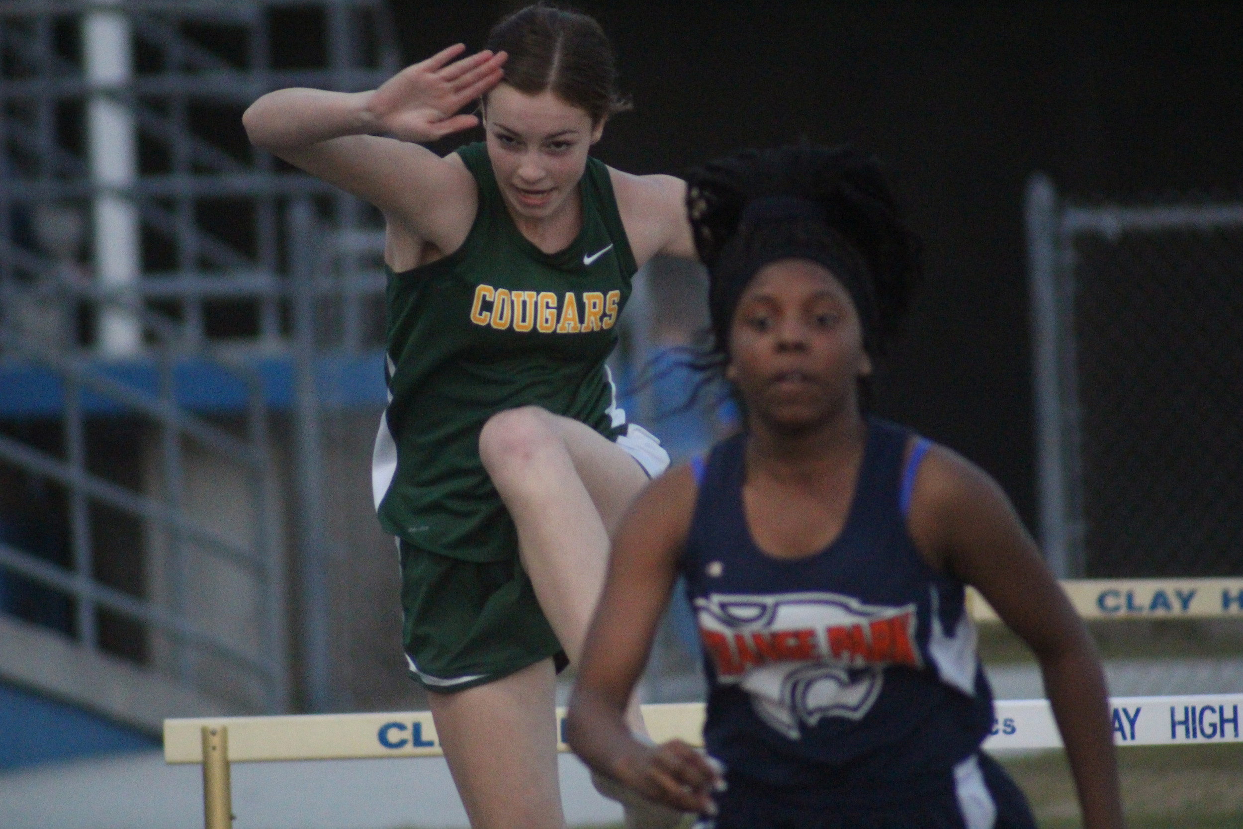 Green Cove Springs hurdler Sarah Zima will be competing at the Clay County Junior High Track and Field Championships on Fri., April 15 at Orange Park High School.