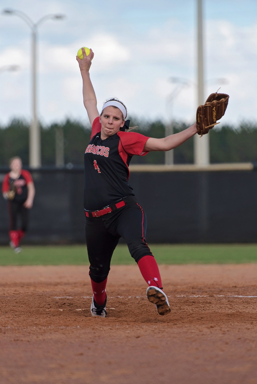 Middleburg High pitcher Savannah Combs will continue her softball playing at Florida State College-Jacksonville.