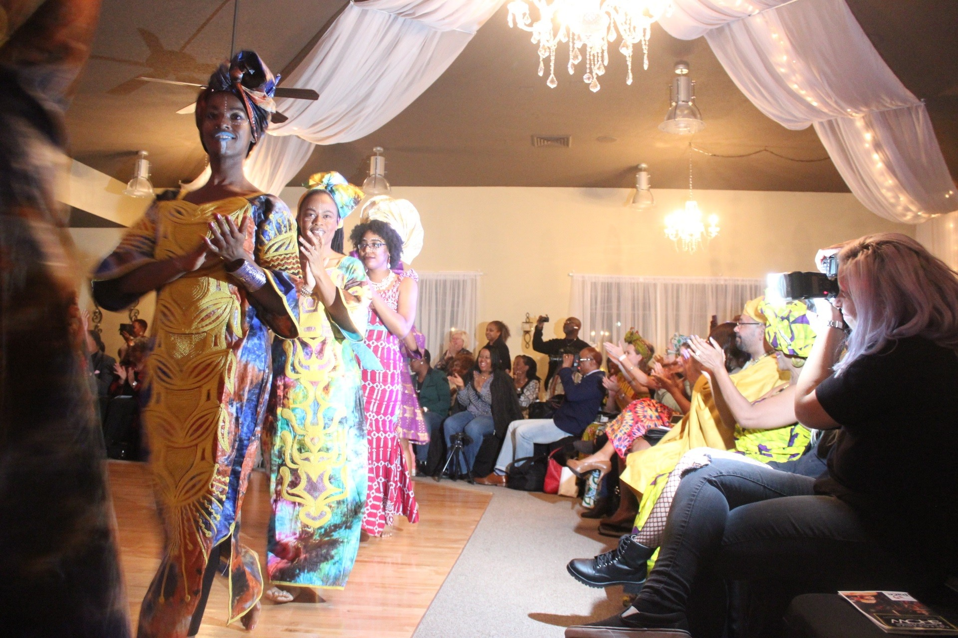 Roughly 30 models took part in a fashion show benefiting the Clay PACE Center for Girls. The show featured almost entirely black models wearing traditional African garb to honor Black History Month.