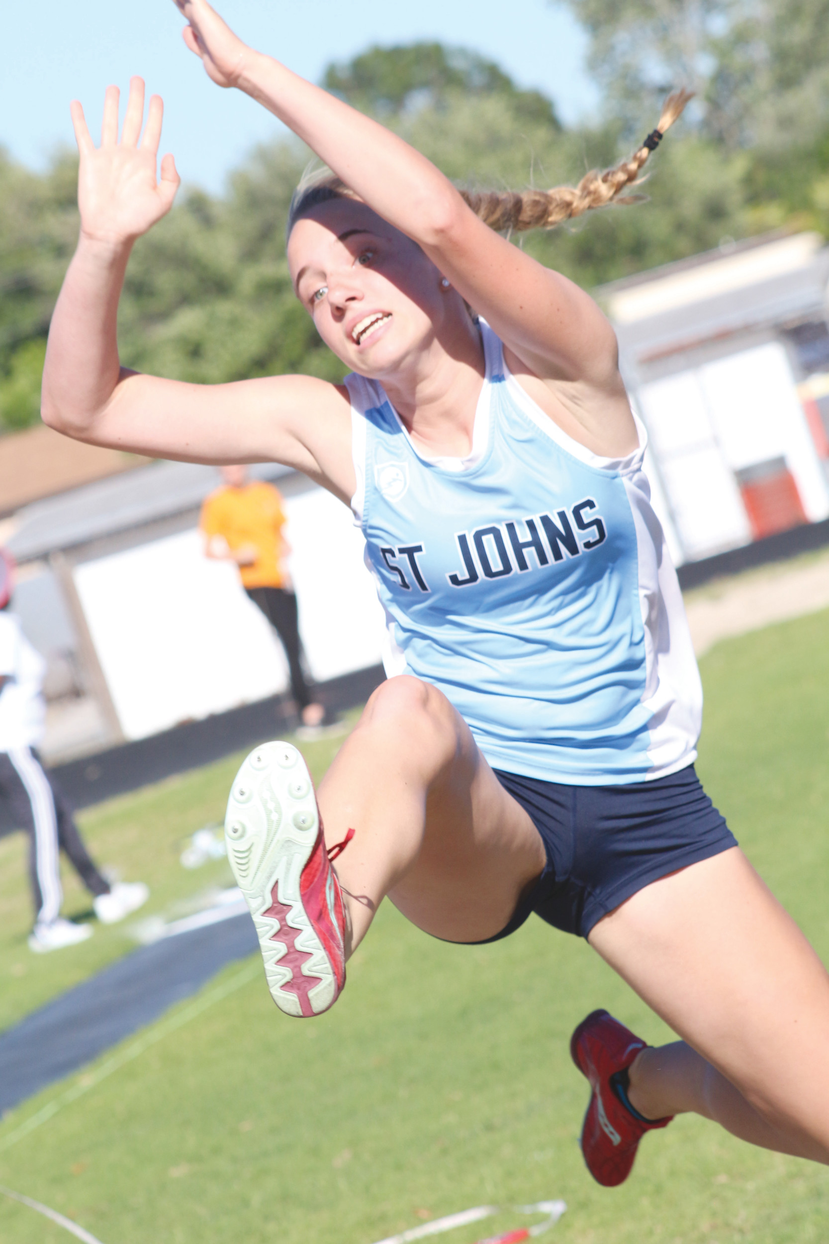 St. Johns Country Day School long jumper Kendall Sage earned a regional track championship berth with her top four finish at the district 4-1A championships held Sat., April 12 at Bishop Snyder High School. Regions are set for April 25 at Bishop Snyder.