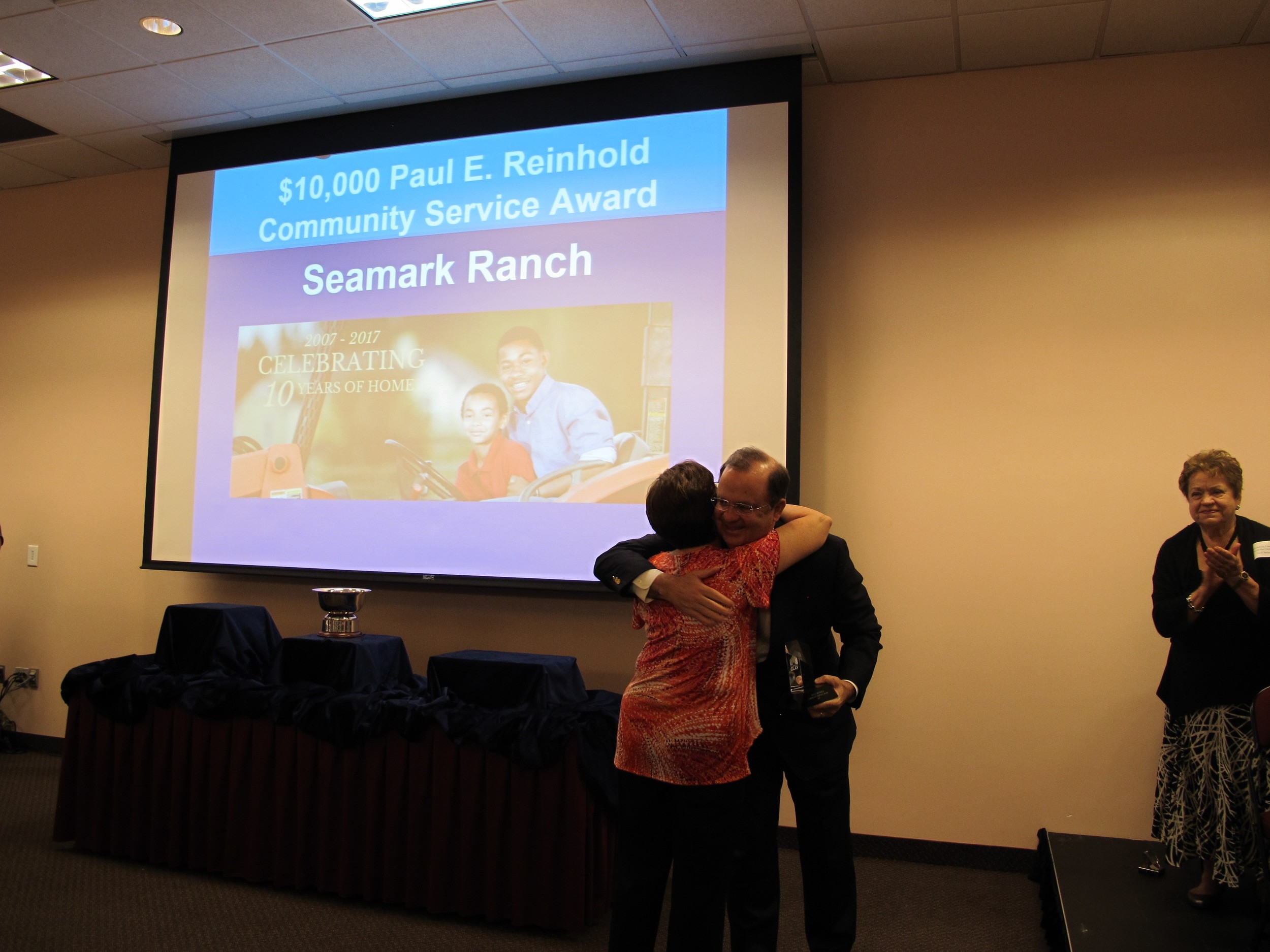 Seamark Ranch Paul E. Reinhold Community Service Award of the year received by Carleen Haney