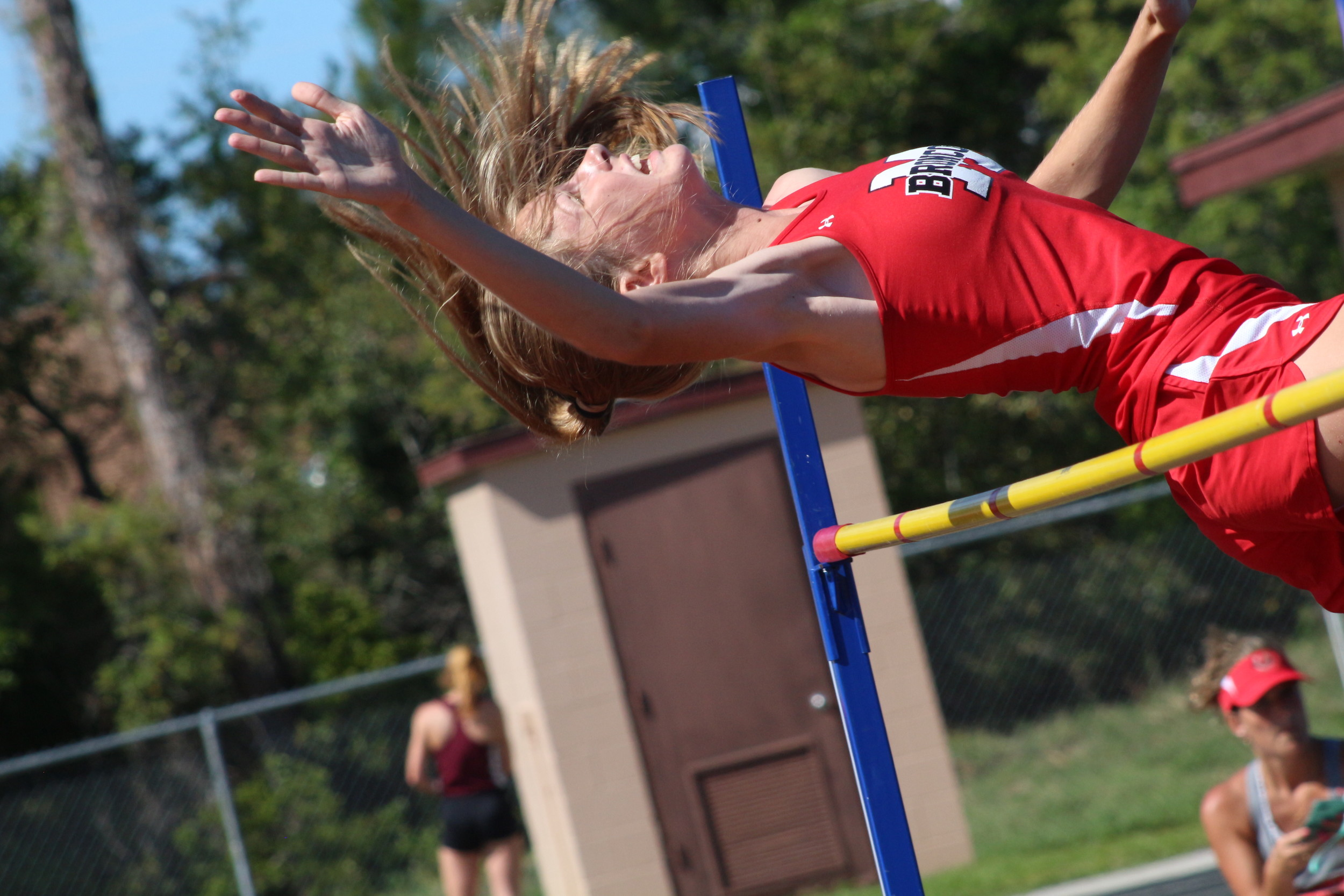 "Middleburg High junior high jumper Kaley Petrosky finished fourth in the Class 3A high jump after winning districts and finishing second at regions. Petrosky's high jump teammate, sophomore Bryce Quiett, took sixth at 6'-2"" also in the Class 3A high jump."