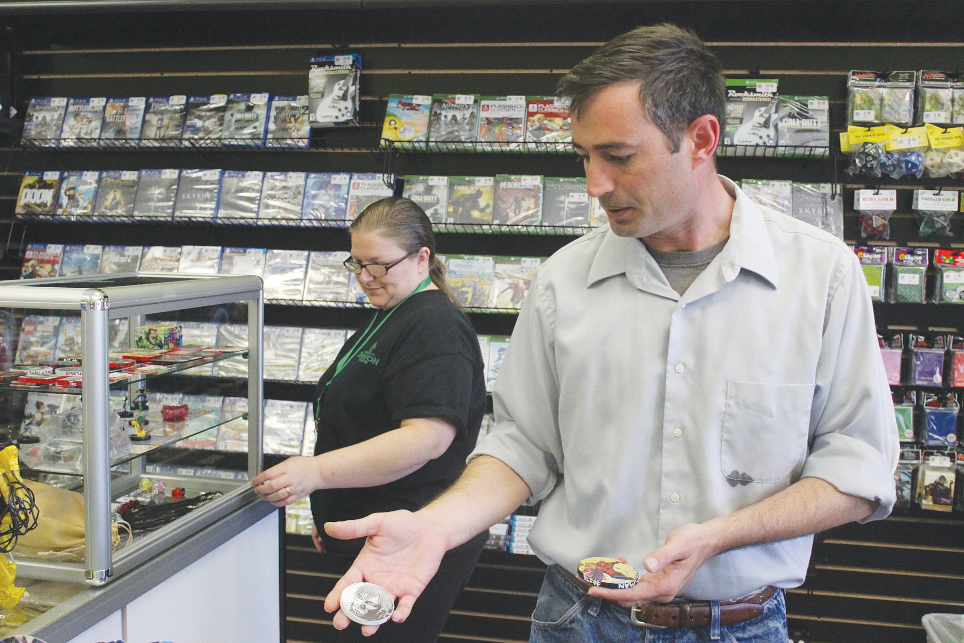 Hazel and Michael Bruce opened Emerald Dragon Games at the tail end of April to give area gamers something to look forward to other than a screen.