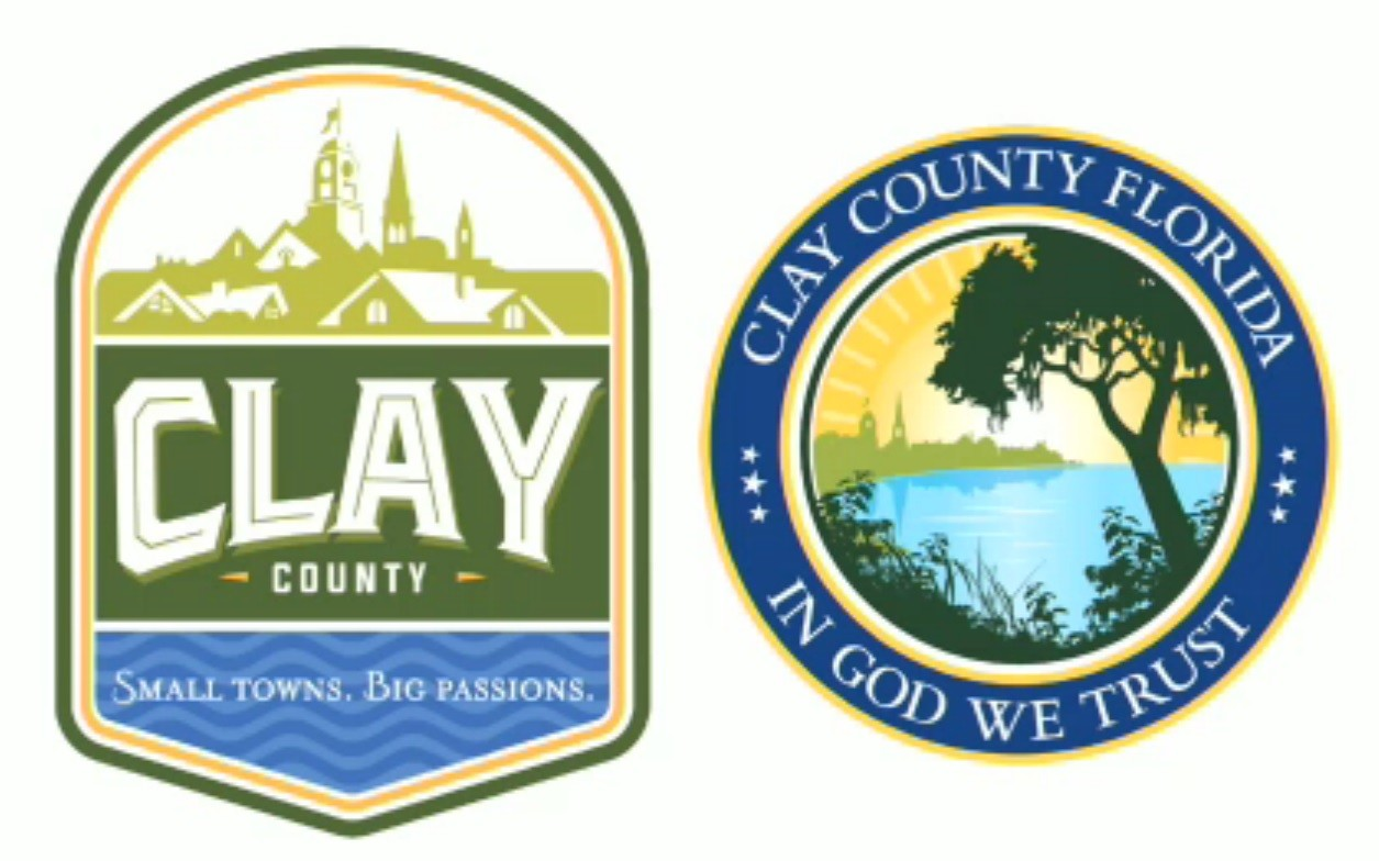 Here are the drafts of a proposed new county logo and a new county seal. Will Ketchum of Burdette-Ketchum, which created the brand, suggested the new county seal would also differentiate Clay County, Florida from the other 17 counties named Clay throughout the U.S.