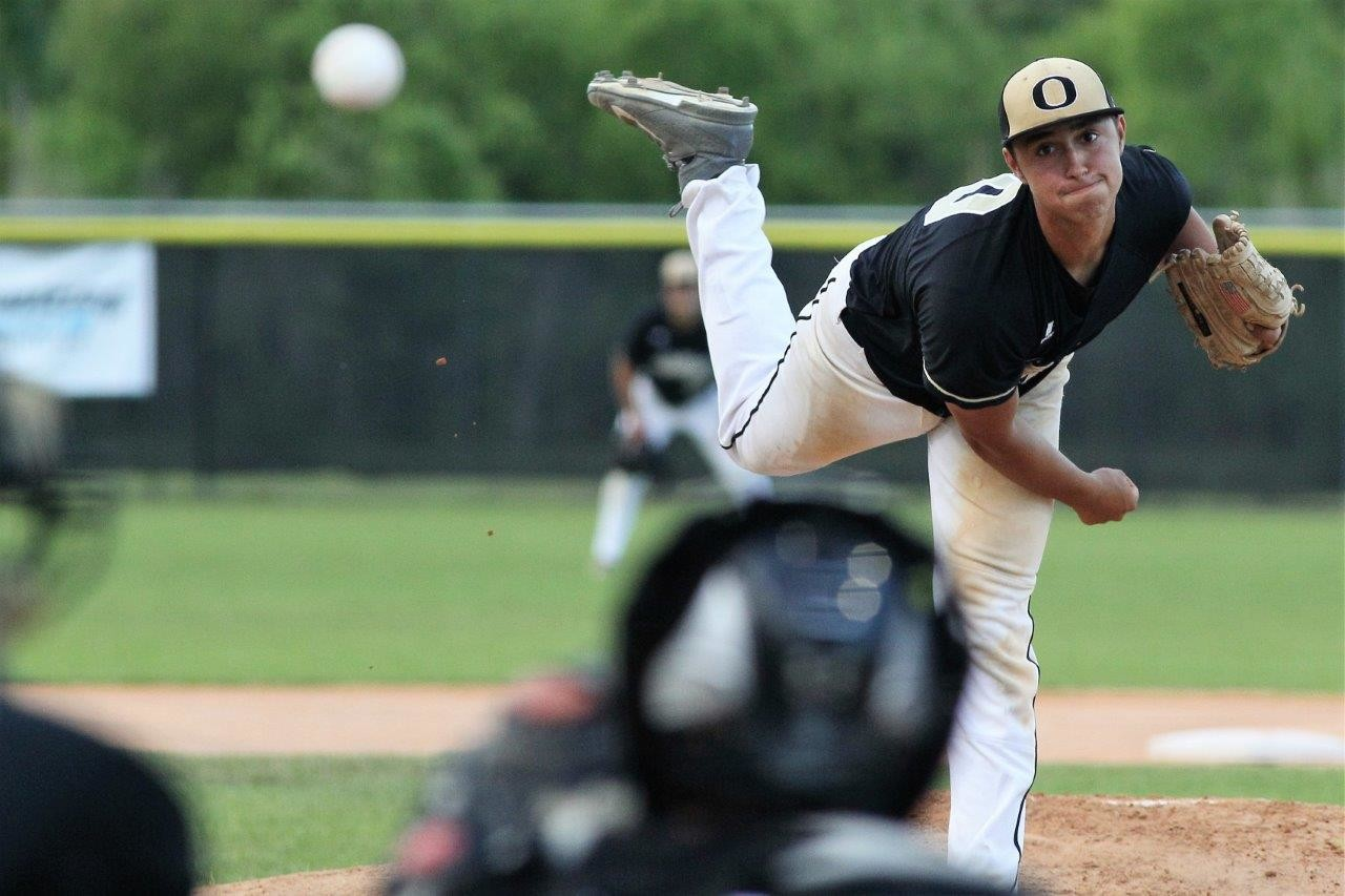 Oakleaf High senior pitcher Chris Mauloni, a Jacksonville University commit, was a power hurler for the Knights with a 90-plus milers per hour fastball.