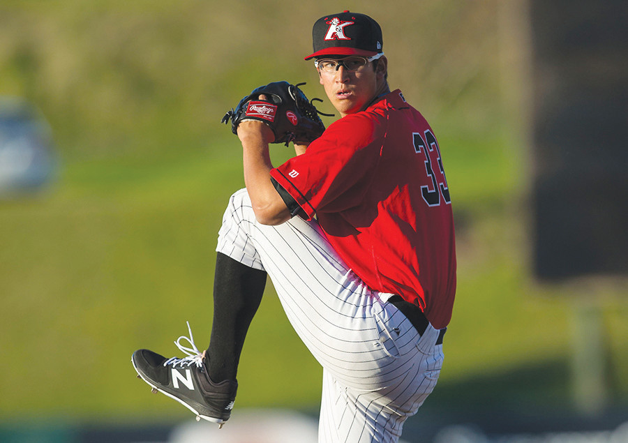 Dane Dunning, here pitching for the Kannapolis Intimidators in North Carolina, is now with the Winston Salem Dash.