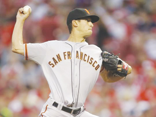 Jake Dunning, here in a picture with the San Francisco Giants in 2013, pitched for the Giants for two years before a series of injuries sidelined him got him sent to the Chicago White Sox's minor league system in 2017.
