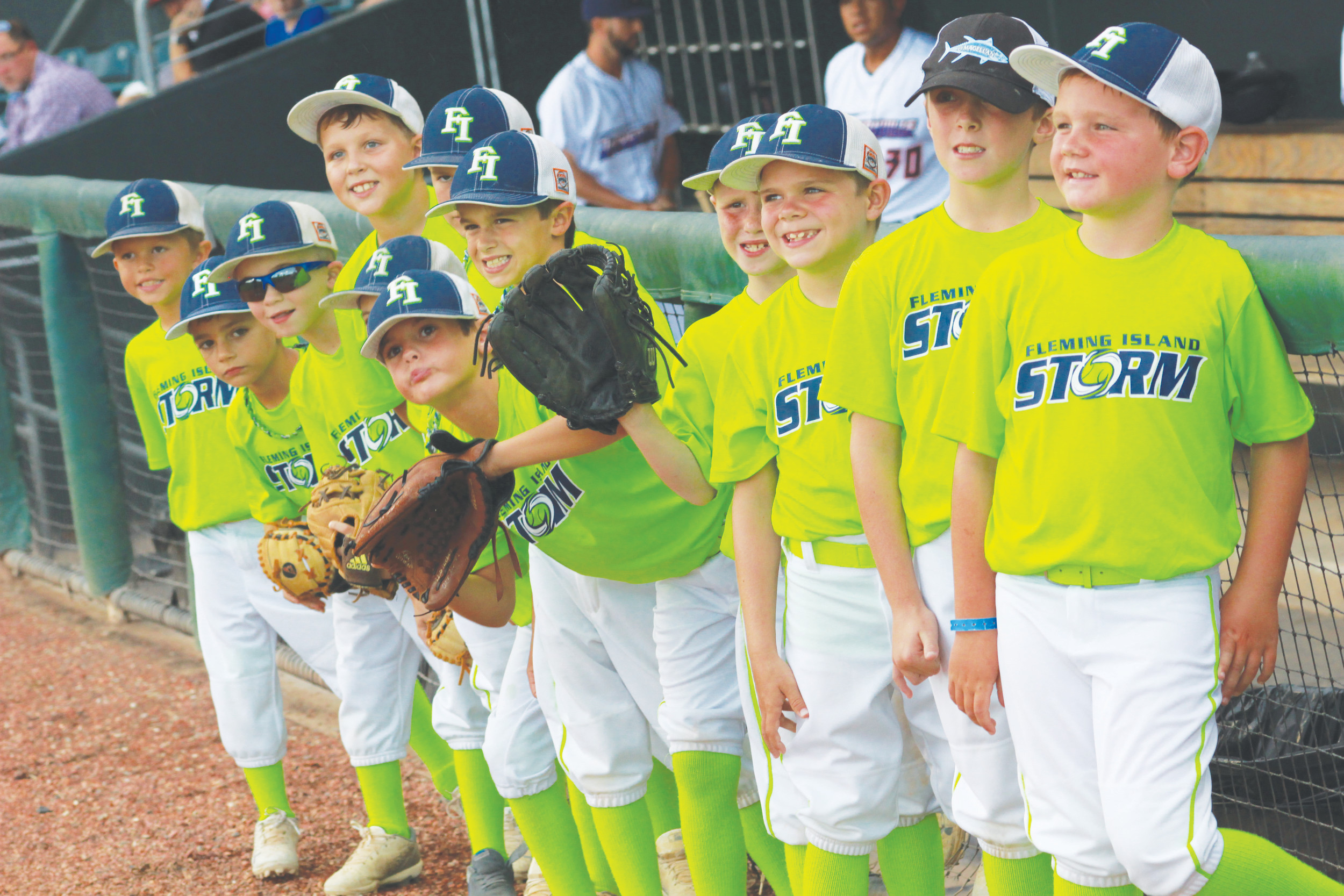 The Fleming Island Little League Storm baseball team got an invite to run with the Jacksonville Jumbo Shrimp minor league baseball team on Wed., July 17 at the Jacksonville Baseball Grounds. The Storm team members were Matthew Adams, Caleb Ainsworth, Grady Tees, Bradley Herringdine, Connor Massey, Lee HIte, Jacob Bowden, Greyson Critch, Cooper Blackwood, Ryland Matuschke, Jordan Adams and Carson Connolly.