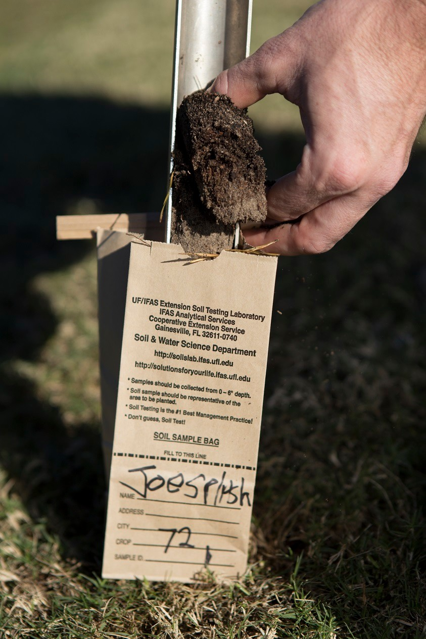 By bringing your soil sample to UF/IFAS Extension Clay County, you can find vital information about your lawn and garden. Source: UF/IFAS