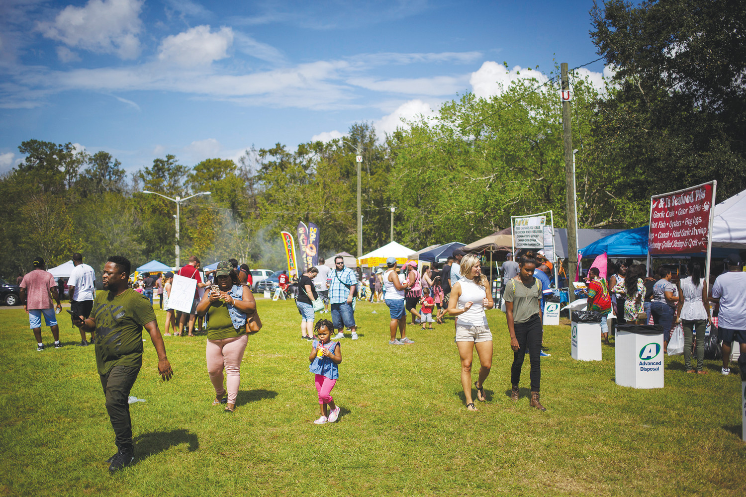 The crowd began to grow around lunchtime in Green Cove Springs as Clay County residents decided to make their way to the Soul Food Festival in search of barbecued meats or fresh boiled crab.