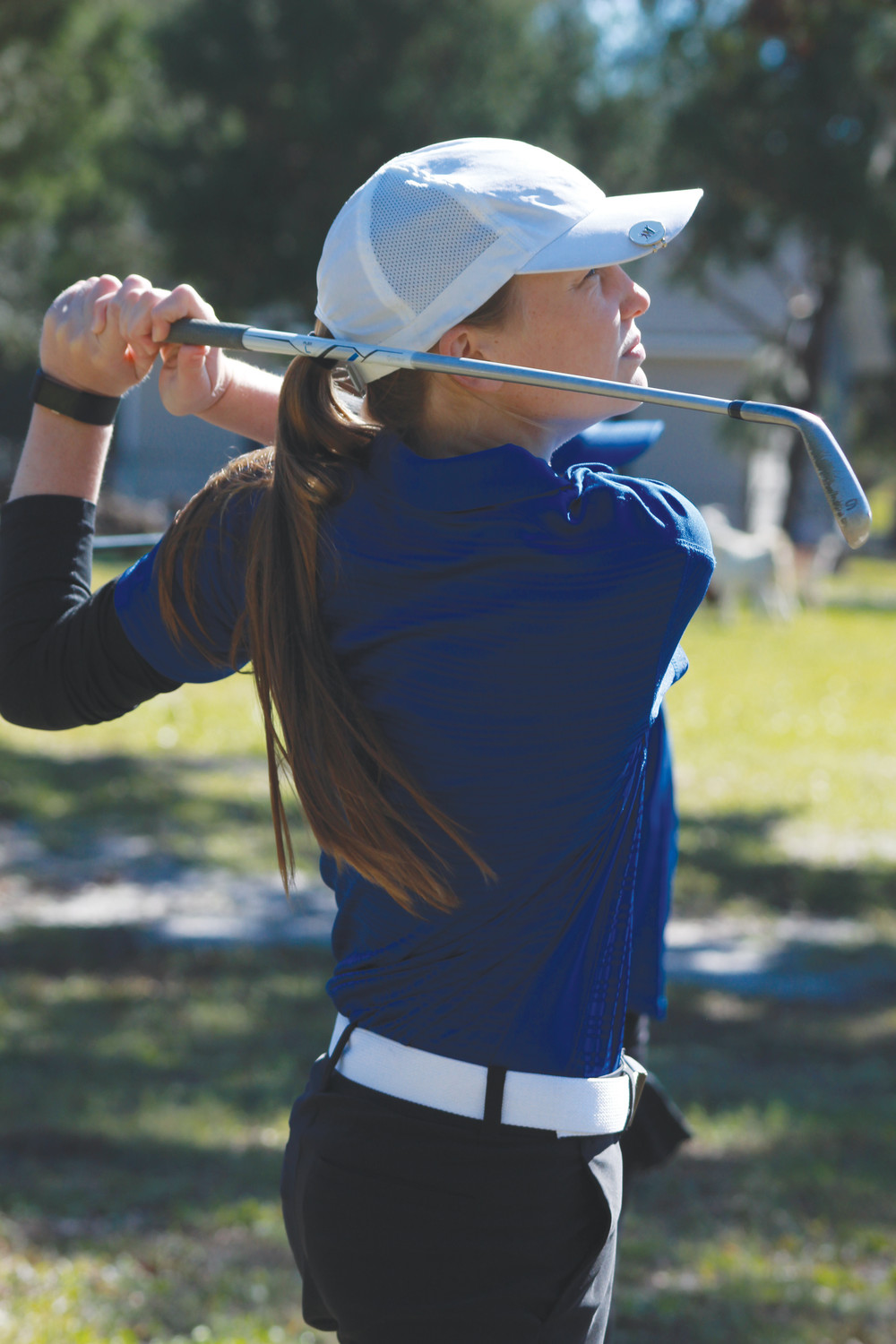 Keystone Heights golfer Camille Jackson benefits from having her own driving range on the family 53-acre farm along with a bunker hole and a putting green.