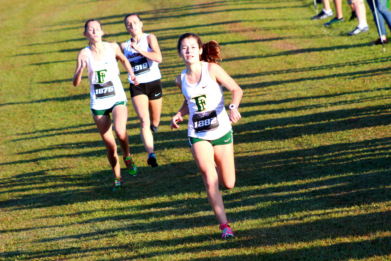 Fleming Island's girls team took second off a strong fourth and fifth finish here from Emma Millson and Julie Fliess.