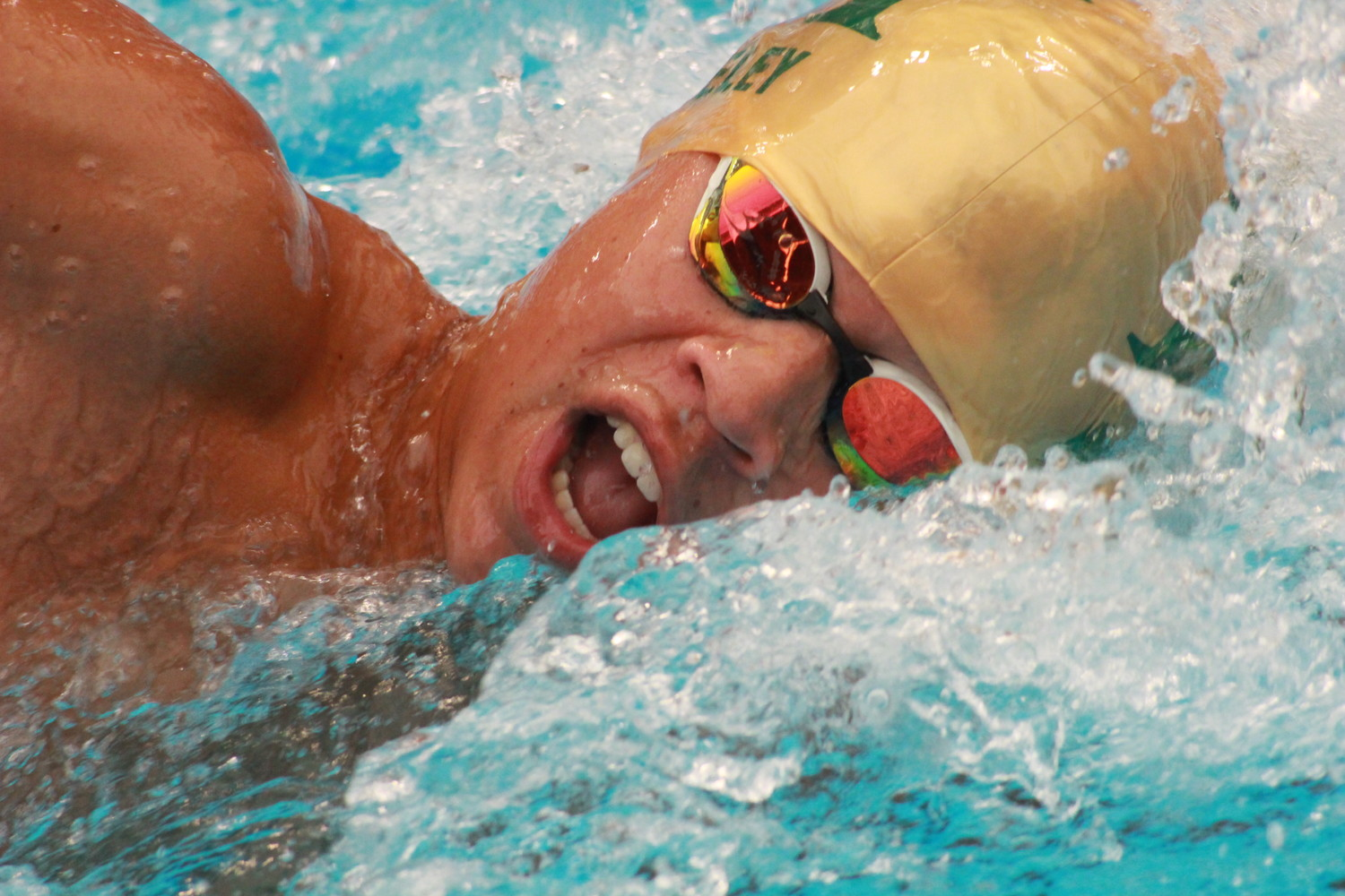 "Fleming Island senior freestyler Jack Neeley stormed to a region win in the 50 free with fellow ""Bash Brother"" Andrew Heinton blasting the 100 free to lead Golden Eagles to state."