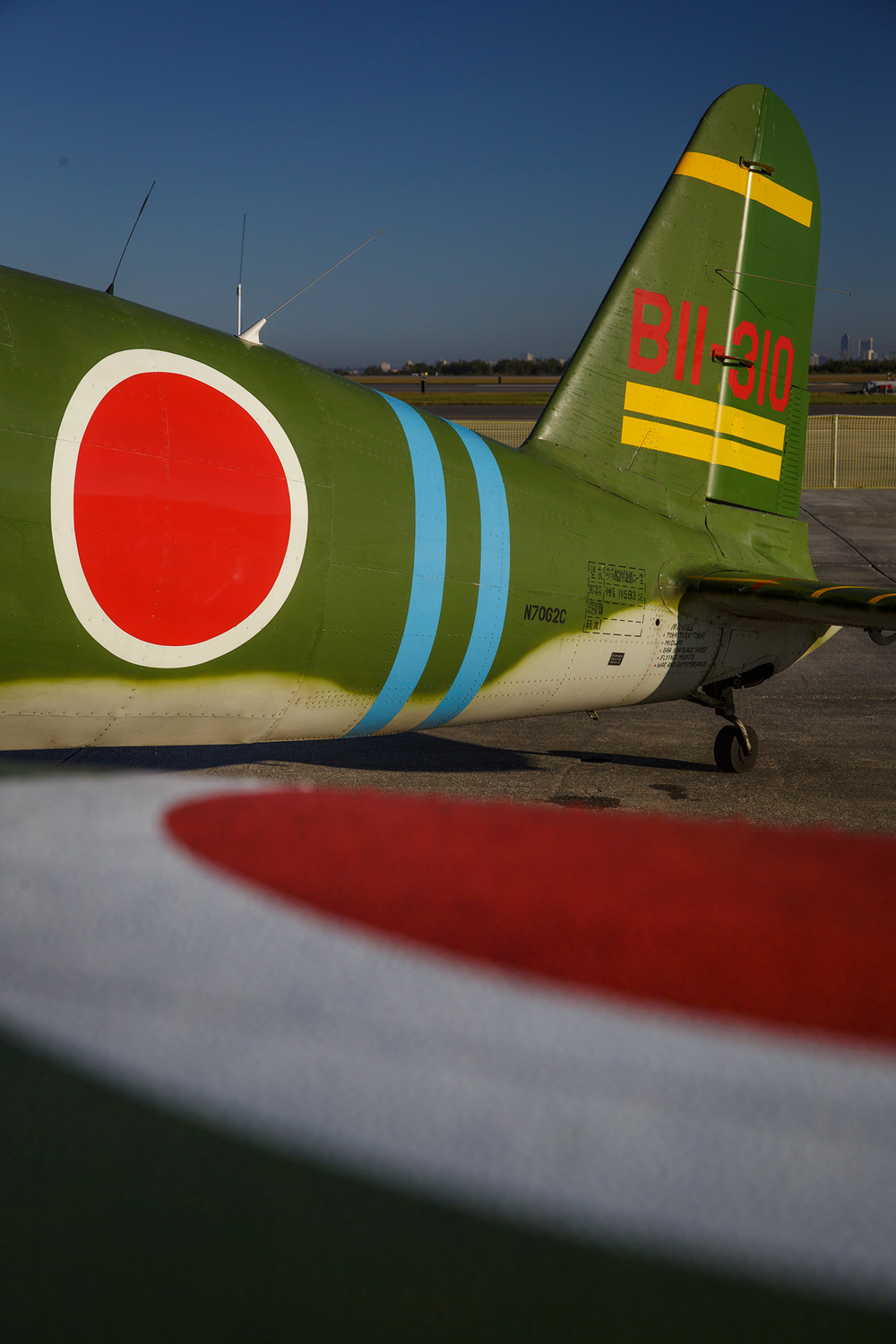 "One of the infamous World War II-era Japanese ""Zero"" fighter planes sits on display at the Naval Air Station Jacksonville Air Show last weekend."