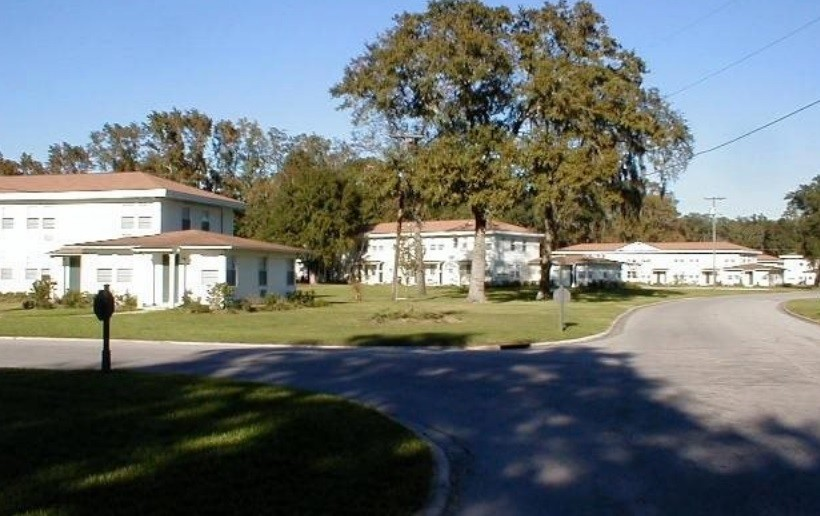 Originally built as housing for U.S. Navy families when Lee Field was in operation through World War II, St. Johns Landing is currently operated by Atlantic Realty as an apartment community. Green Cove Springs is looking at annexing the complex.