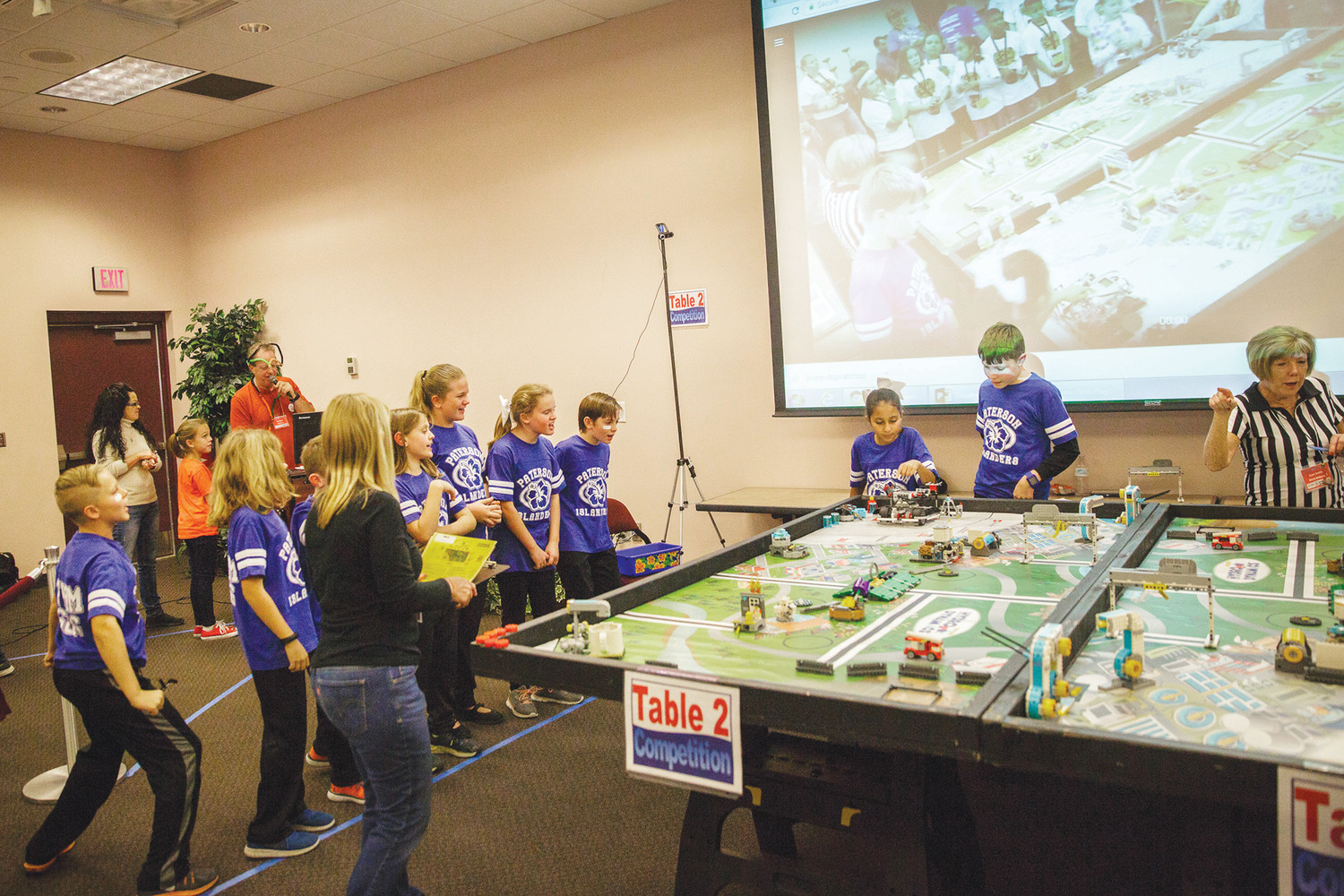 Paterson Elementary School robotics students compete in a qualifying tournament last Wednesday at Thrasher Horne Center. The tournament is one of three that will be held at the center with the the remaining two being held on January 4 and 5, 2018.