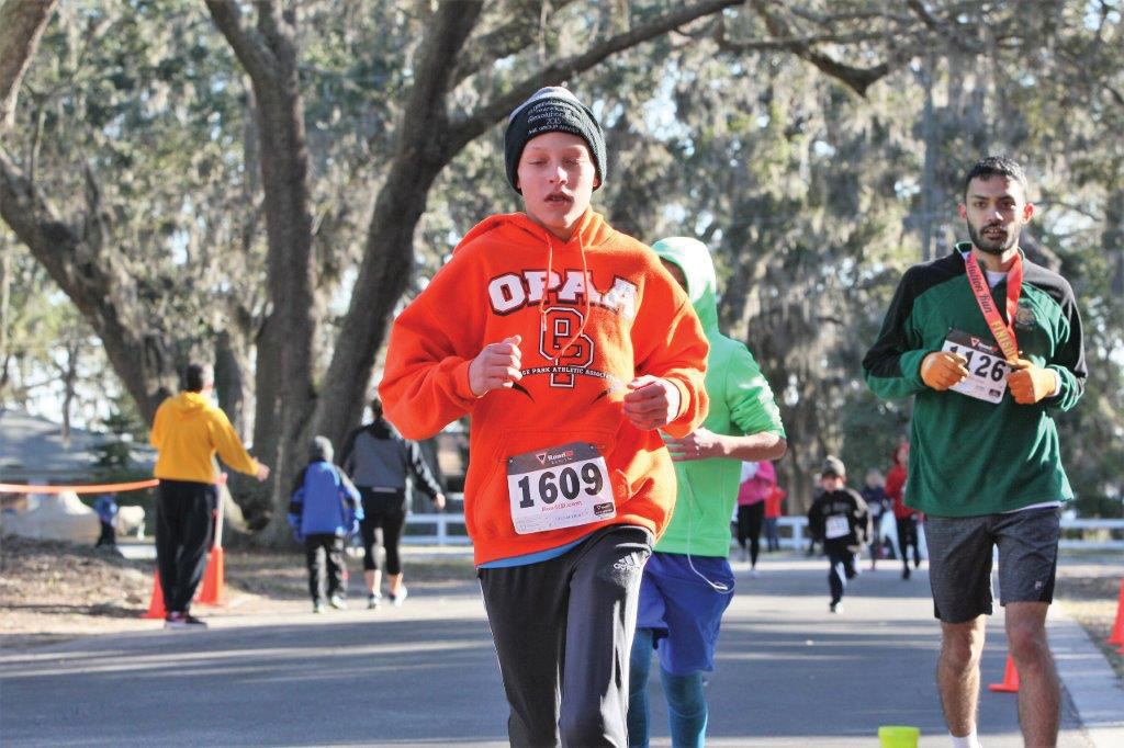 Jack Ganoe, 11, was eighth in age group, with time of 24:15, a 7:48 per mile pace.