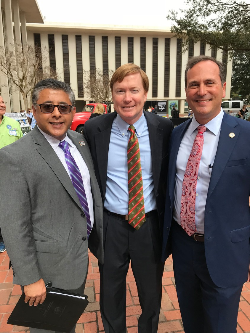 Paz Patel, Commissioner of Agriculture Adam Putnam and Howard Wannamaker
