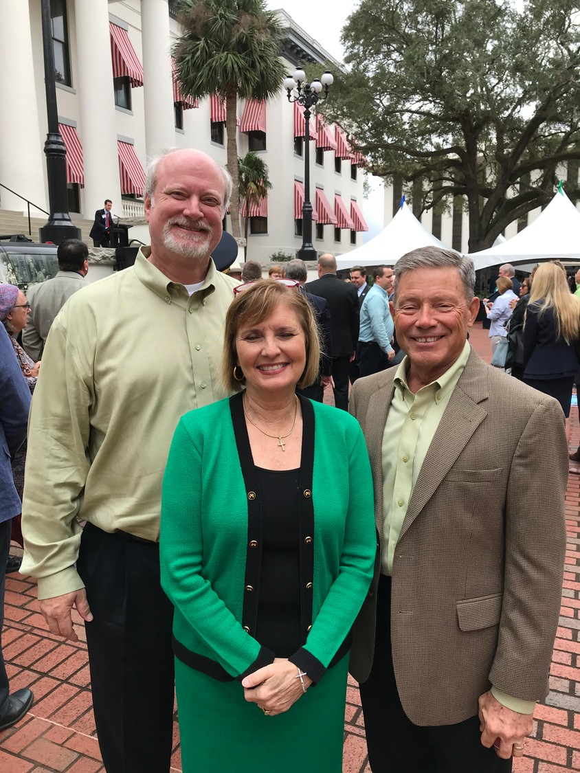 Green Cove Springs Council Members Van Royal, Pam Lewis and Mitch Timberlake