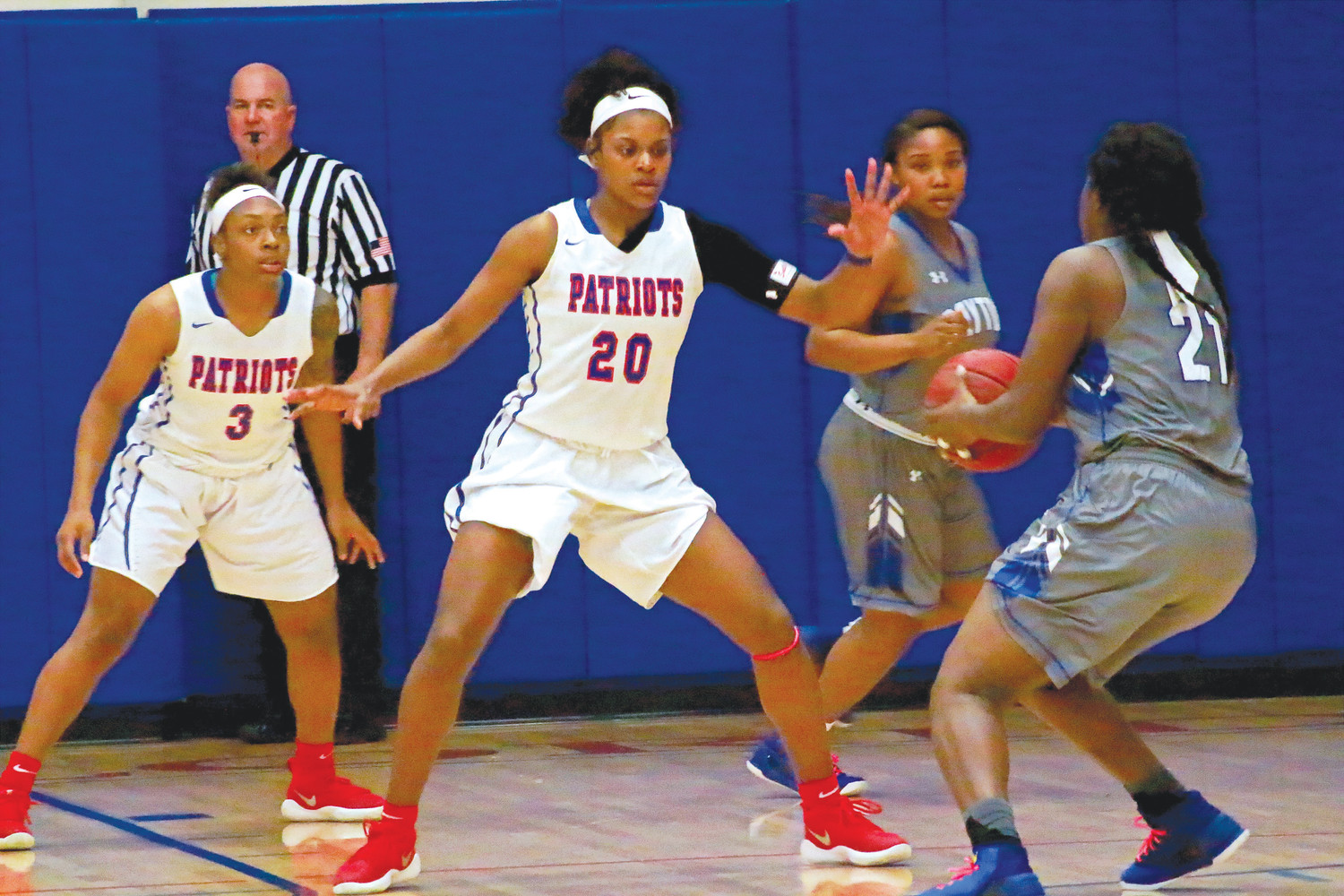 Orange Park High grad Shakarri Mack is strong presence in middle of College of Central Florida Lady Patriots basketball team with an 8.6 points per game average with 4.4 rebounds.