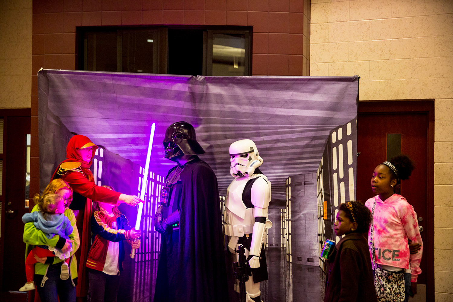 Professional cosplayers from the 501st Legion Florida Garrison, Squad 7, attended the Lake Asbury Junior High School Starlight Night event last Thursday, bringing with them an array of Star Wars villains that make up the groups which can be found globally.