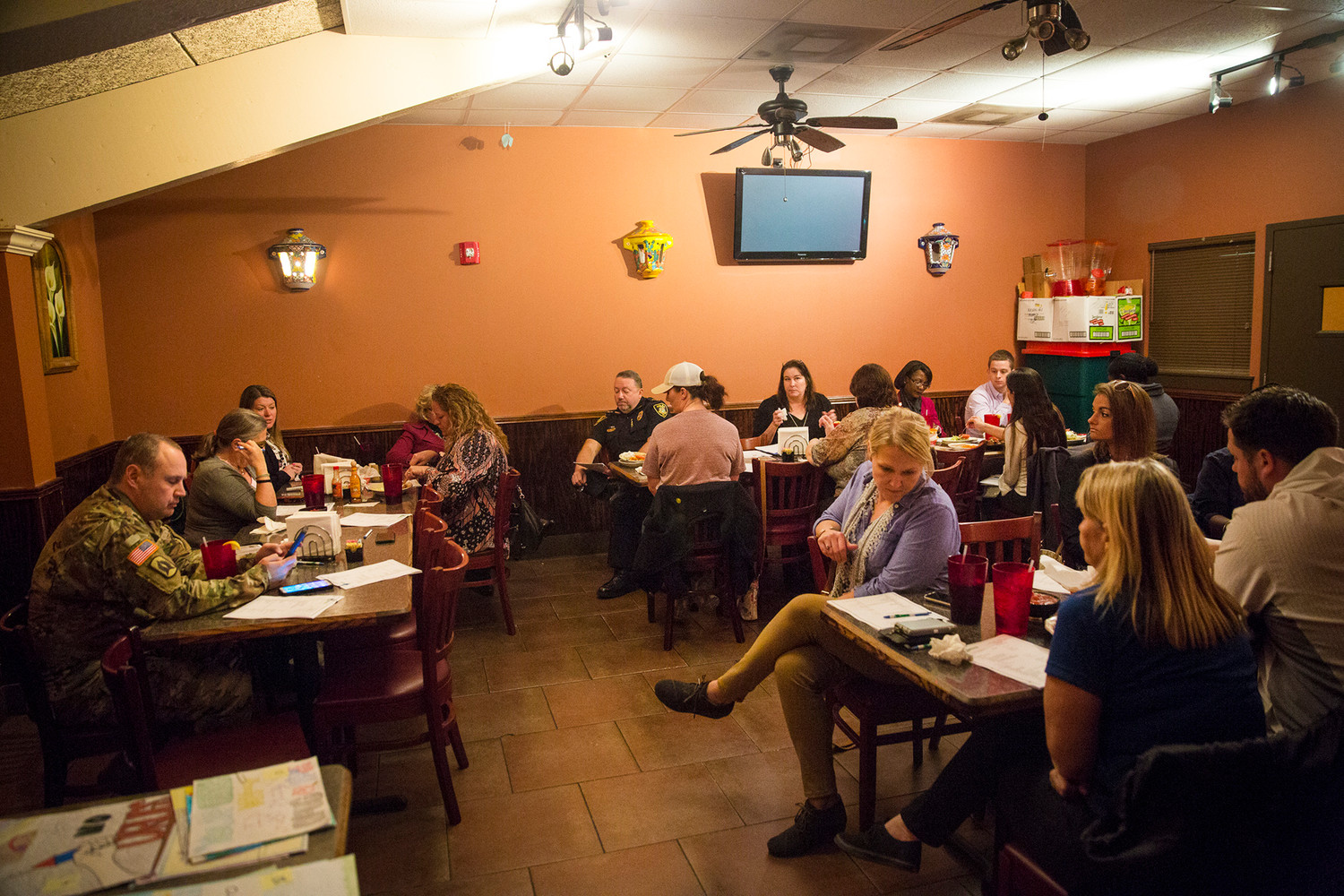 Members of the Clay Action Coalition met last Thursday at La Napolera in Orange Park for their monthly meeting and the voting for this year's Drug Free Schools Calendar.
