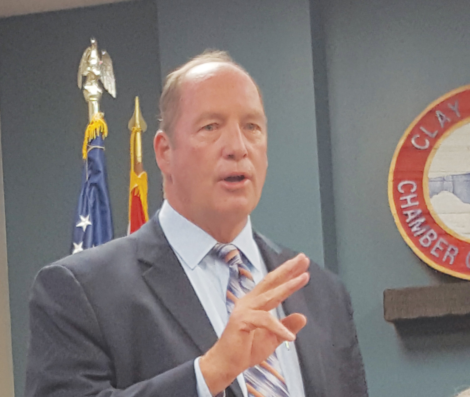 Congressman Ted Yoho (R-3) announces the third round of proposals to locate a Veterans Affairs clinic in Clay County.