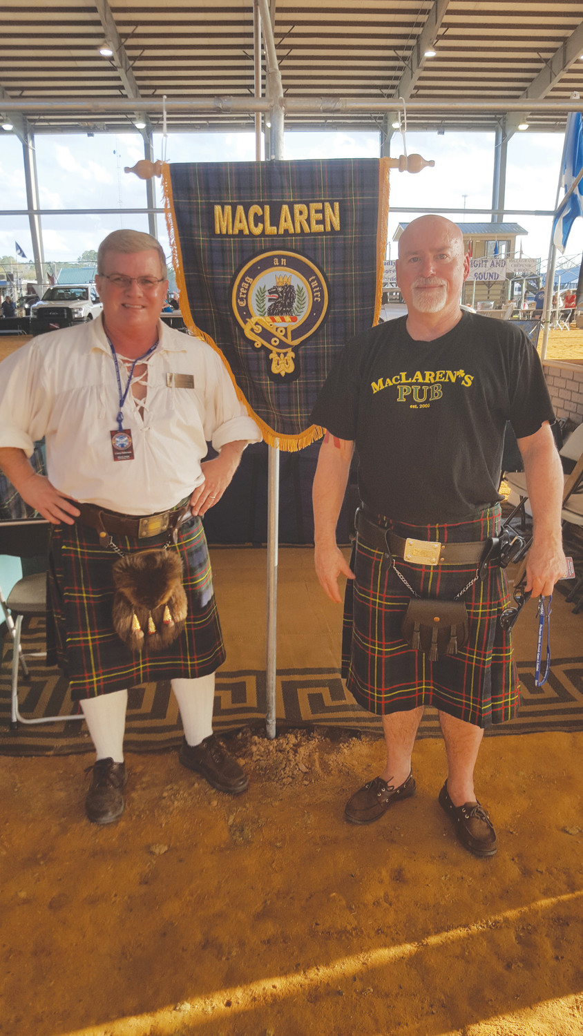 Left to Right: Clan MacLaren representatives Corey L. Patterson and Joe Clark