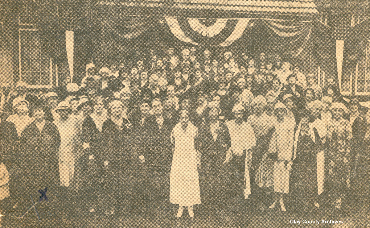 In 1933, members of the Green Cove Springs Village Improvement Association gathered to mark the fiftieth anniversary of their founding the first women's club in the state of Florida
