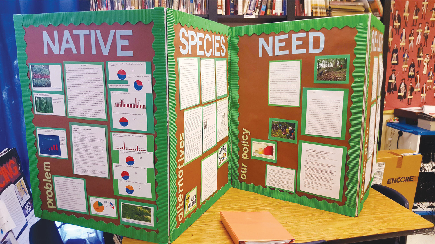 "Titled ""Native Species Need Relief,"" judges ultimately chose the project on invasive plant species in Florida to be presented to legislators."