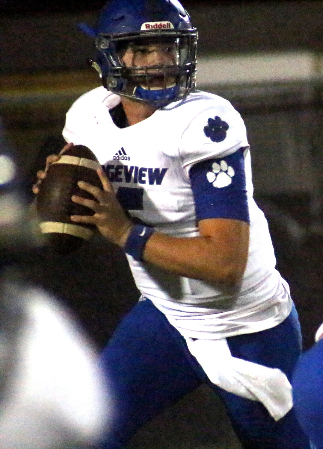 Ridgeview quarterback Tyler Huff was perfect on eight passes with three scores.