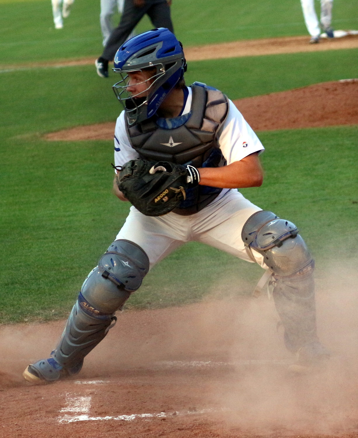 Clay catcher Chase Holman squeezed out a triple in the fourth inning  to keep the Blue Devils' hopes alive.