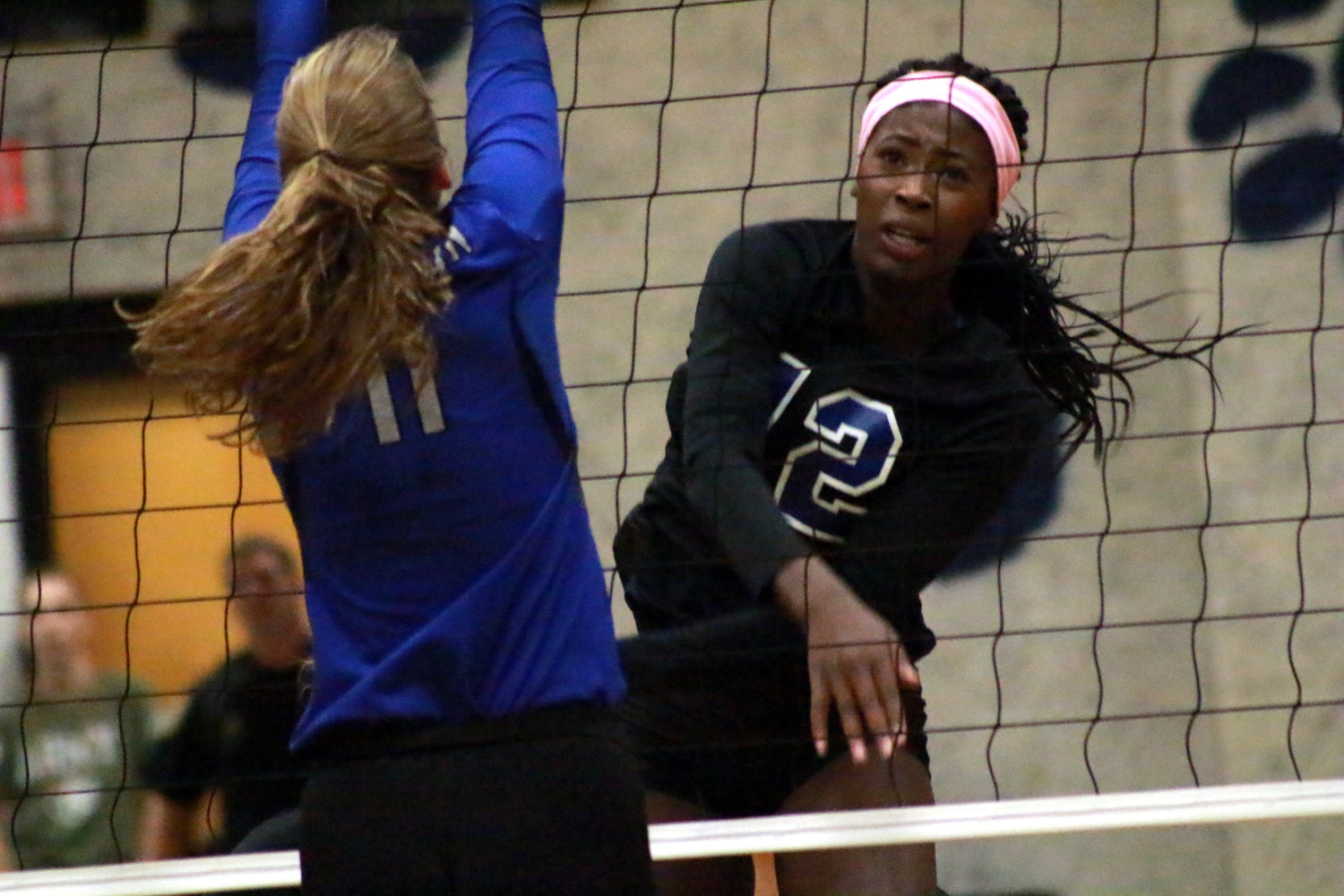 Ridgeview High middle hitter Jonae Sanders came alive in critical fifth game of region 1-6A playoff game that got Lady Panthers to the region semifinals.