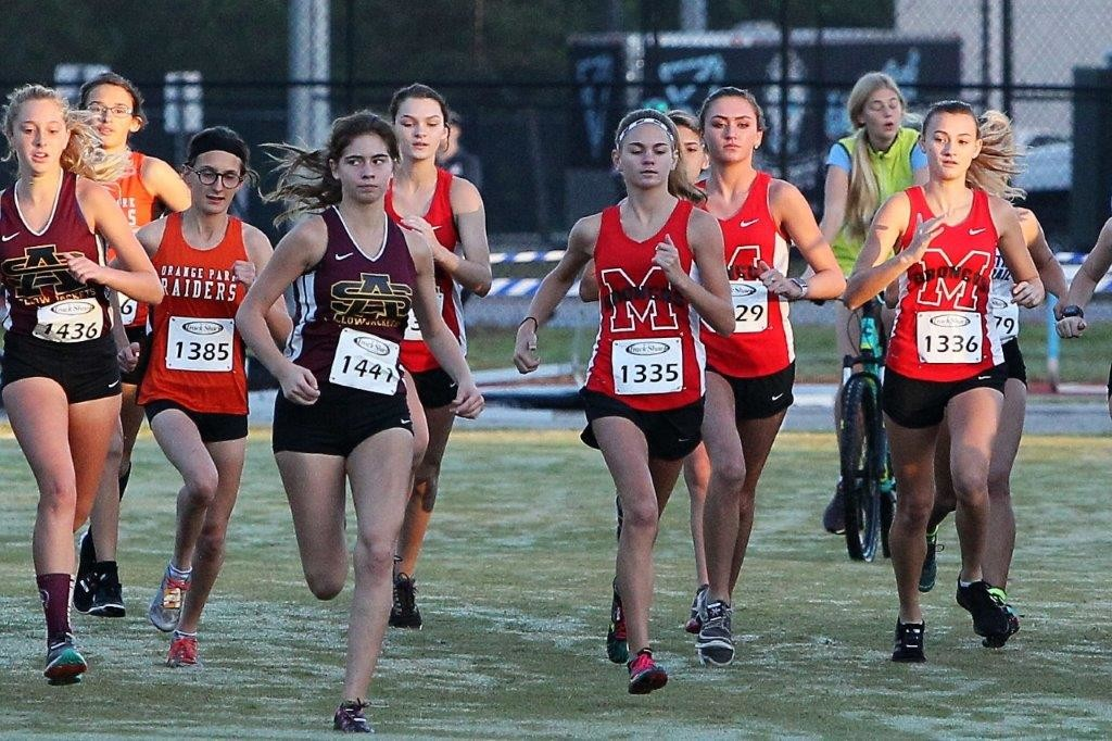 Middleburg High freshman Emma Mussante, No. 1335, had best race of season against best district field in state to put her name in as one of best returners for next season.