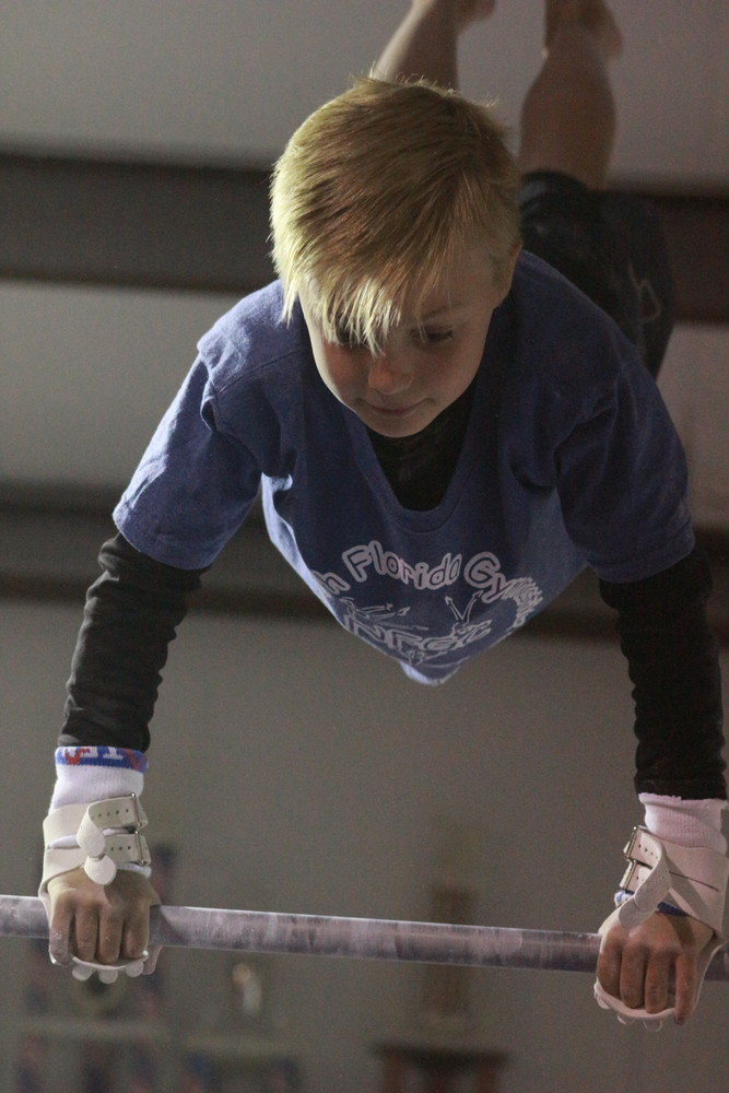 Calvin Wells has been four year member of North Florida Gymnastics in Orange Park.