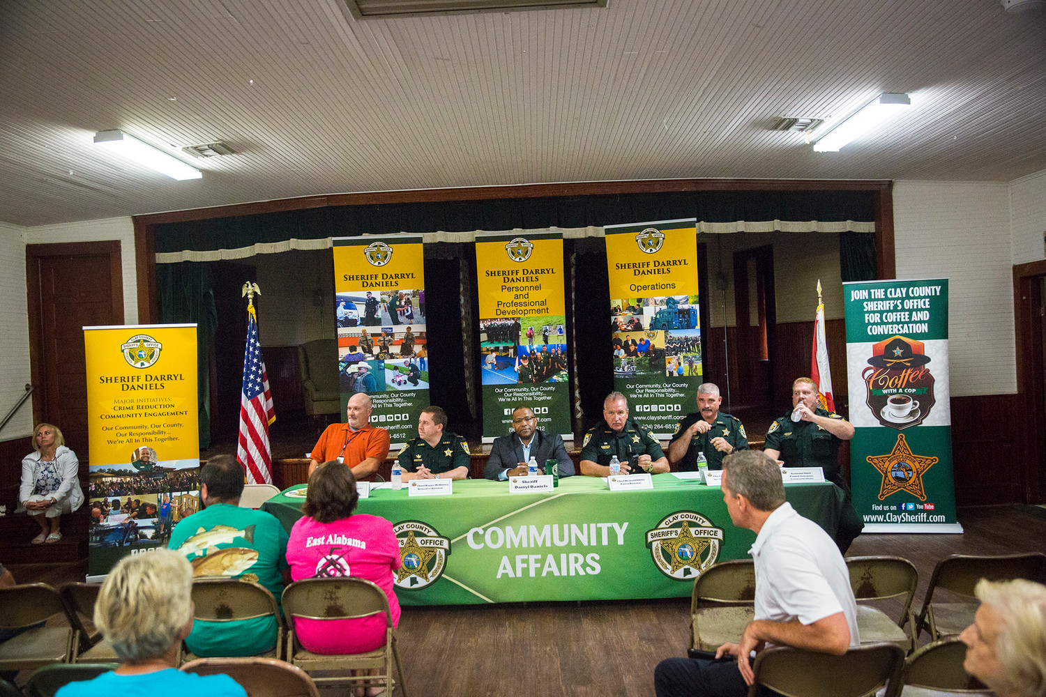 Sheriff Darryl Daniels and a team of deputies who serve as Chiefs in the various departments of the Sheriff's Office sat on a panel Monday evening in Middleburg to discuss current law enforcement initiatives with the community.