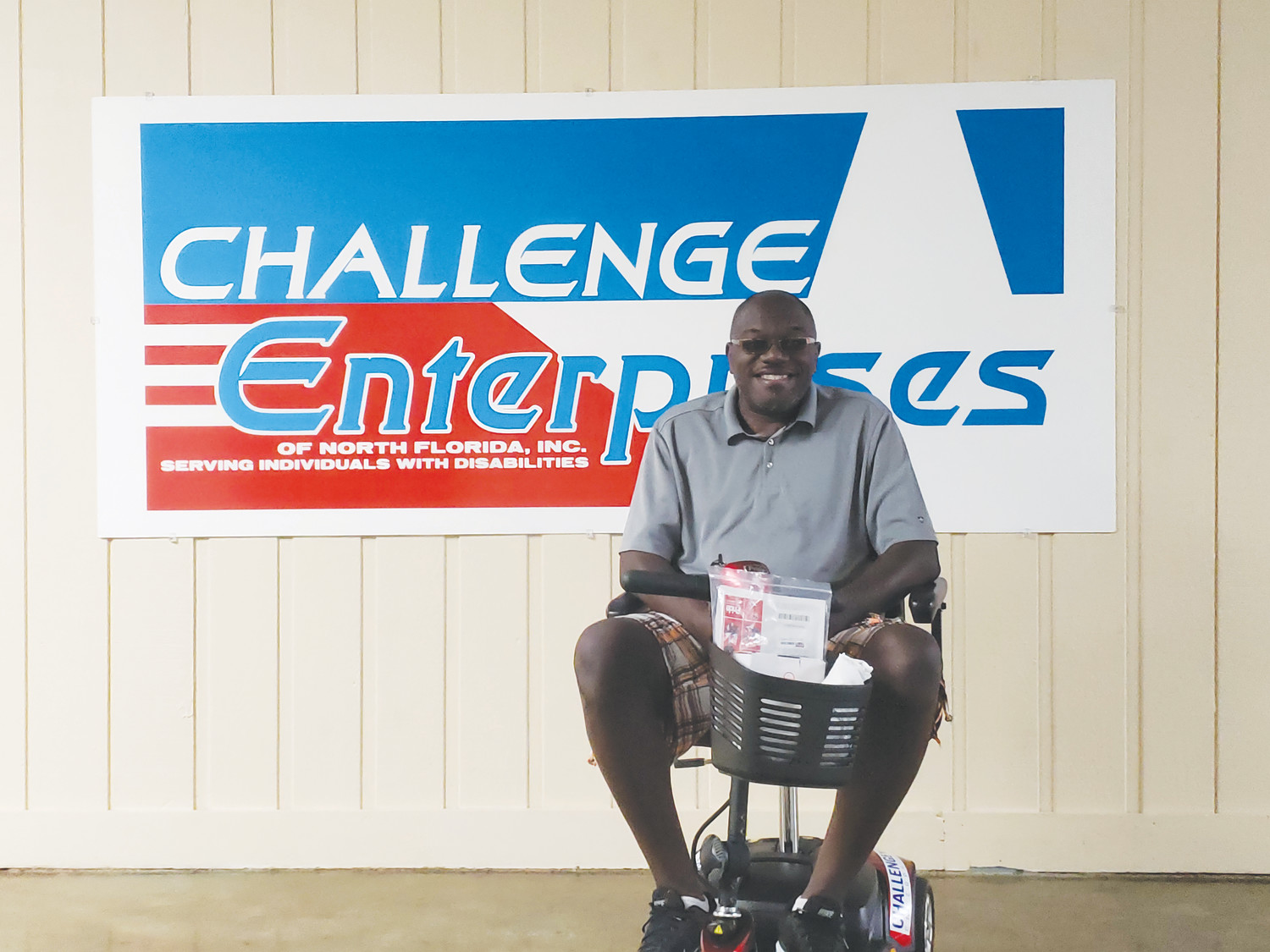 Duane Coats' life has been improved greatly by the new scooter shown here that was donated by Clay County nonprofit Challenge Enterprises.