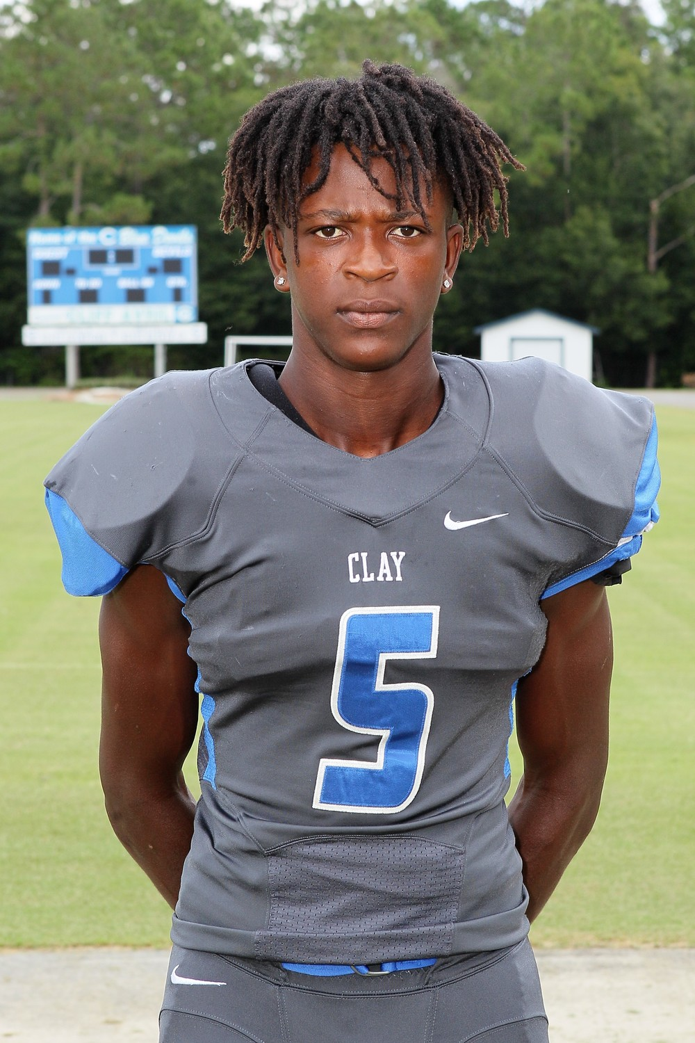 OFFENSE: Cedrick Brown, Senior, RB, Clay High. Brown rushed for 250 yards with three scores;  80 yards, 12 yards and 45 yards as well as a 45 yard kickoff return in the Blue Devils' 49-47 district loss to Pedro Menendez High School.
