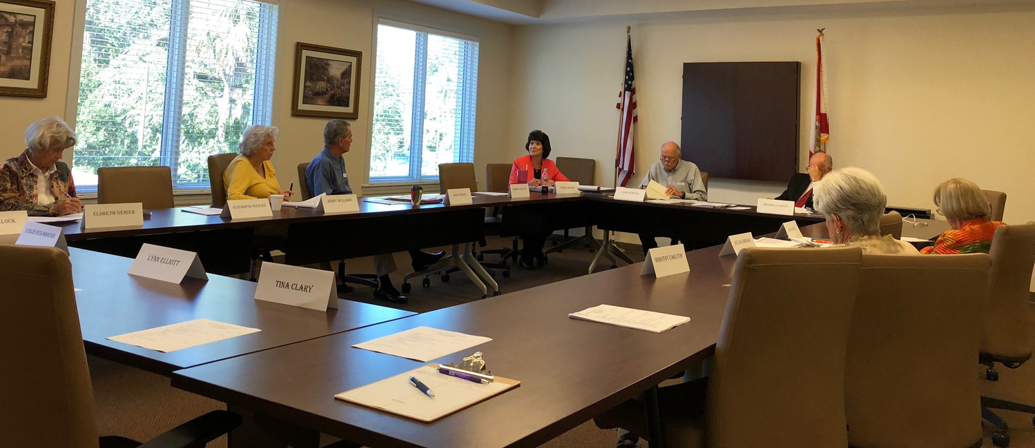 Council on Aging board members and staff met Tuesday to discuss the organization's financial issues.