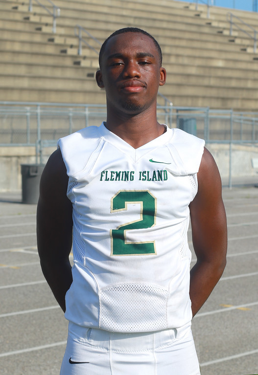 DEFENSE: Landon Perry, Fleming Island High, DB, Senior. Perry was a hawk for the Fleming Island defense with two interceptions, a fumble recovery and five tackles in Golden Eagles win over Ed White.