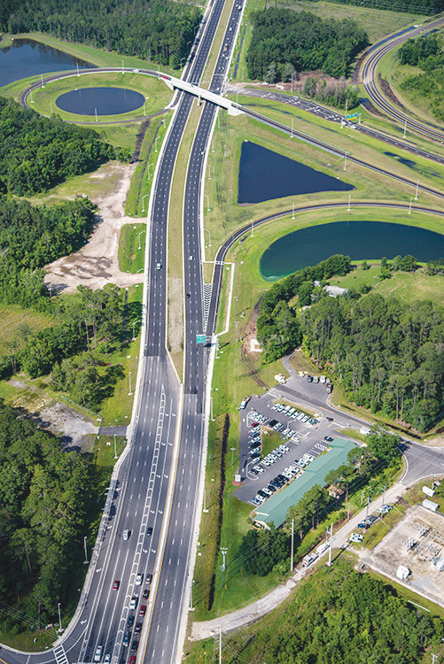 This aerial photo of the First Coast Expressway's Blanding Boulevard termination point shows how massive the project is. Tolls are set to begin in 2019.
