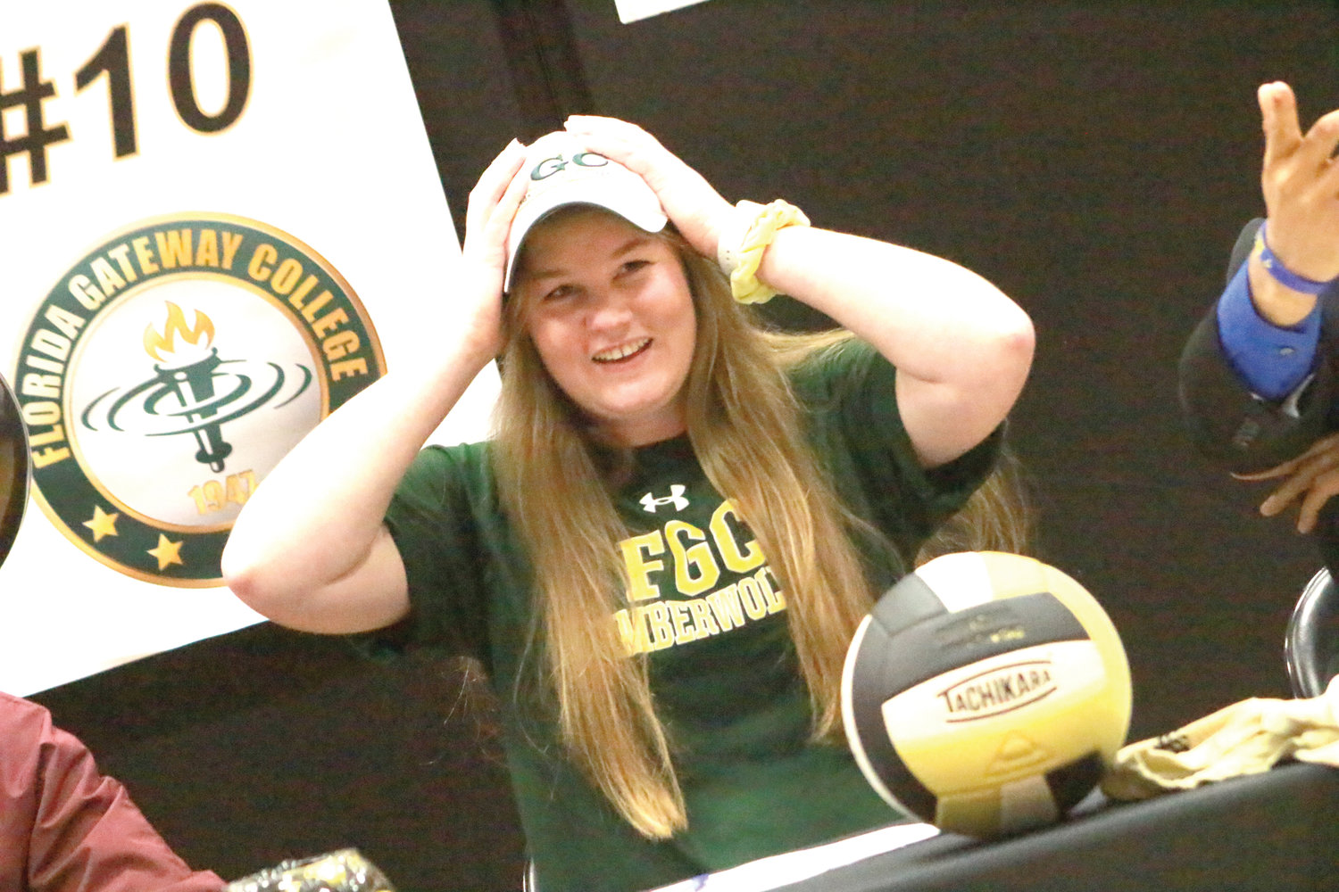 Oakleaf High volleyball player Courtney Williams will continue playing at Florida Gateway College in Lake City.