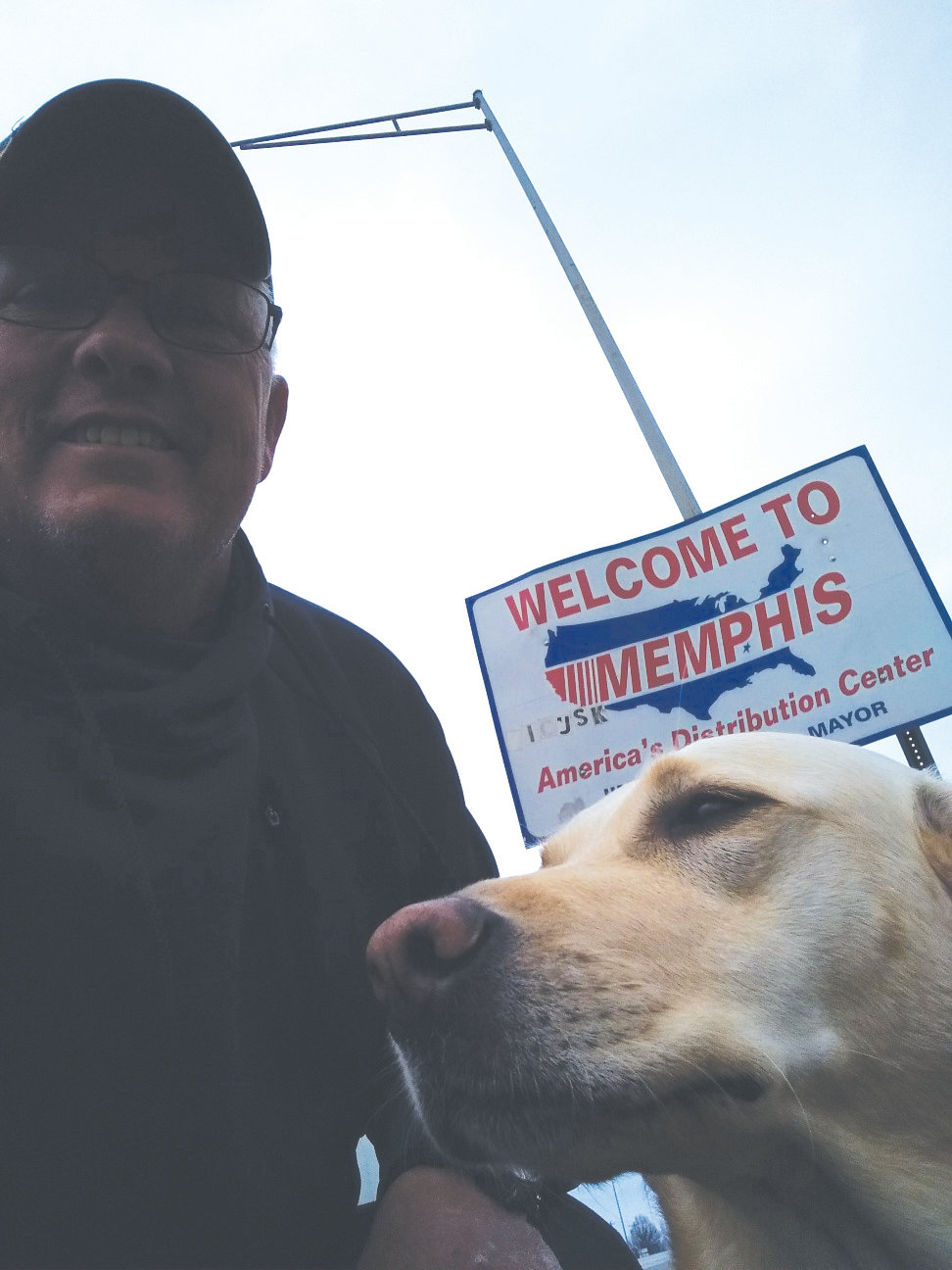Ken Brock reaches Memphis on his journey from Keystone Heights to Coeur d'Alene, Idaho, to create awareness for WWP.