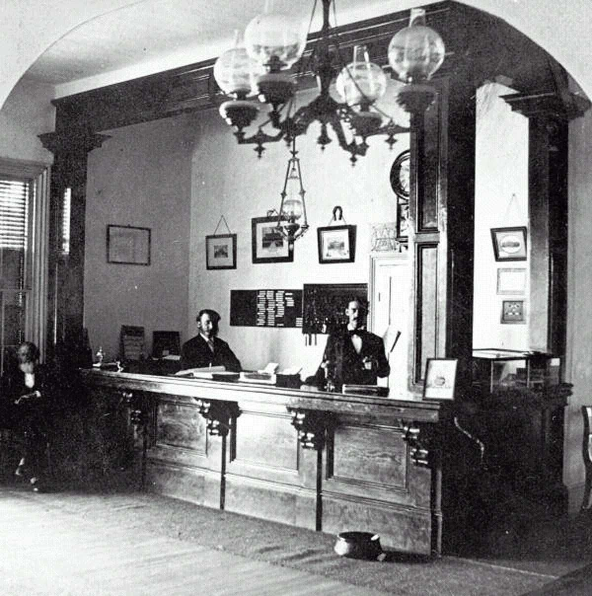 Green Cove Springs' Clarendon Hotel was among the grand dames of St. Johns River hotels for almost three decades. Guests were greeted at the main desk by highly skilled staff.